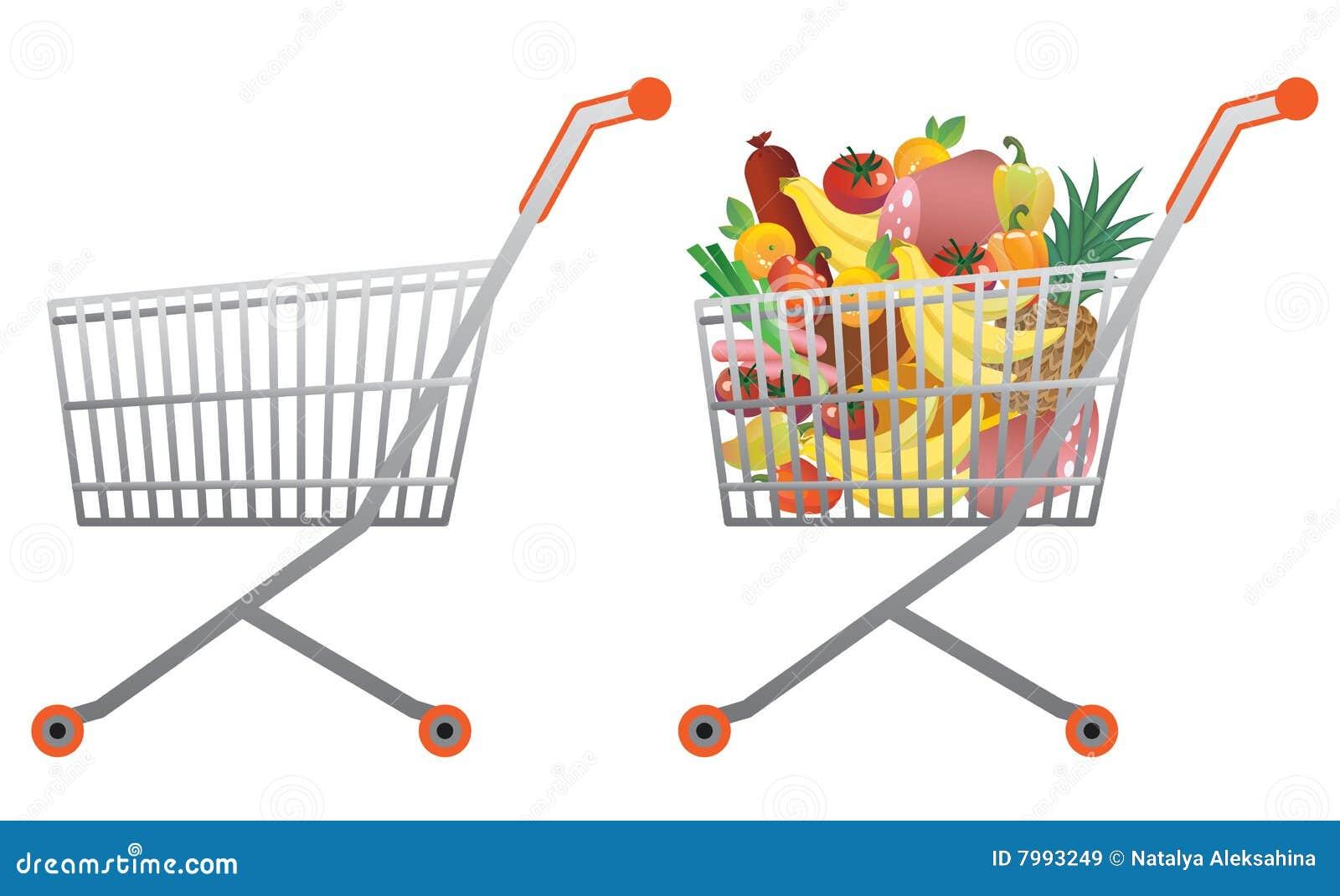 Einkaufswagen vektor abbildung. Illustration von erwerb ...