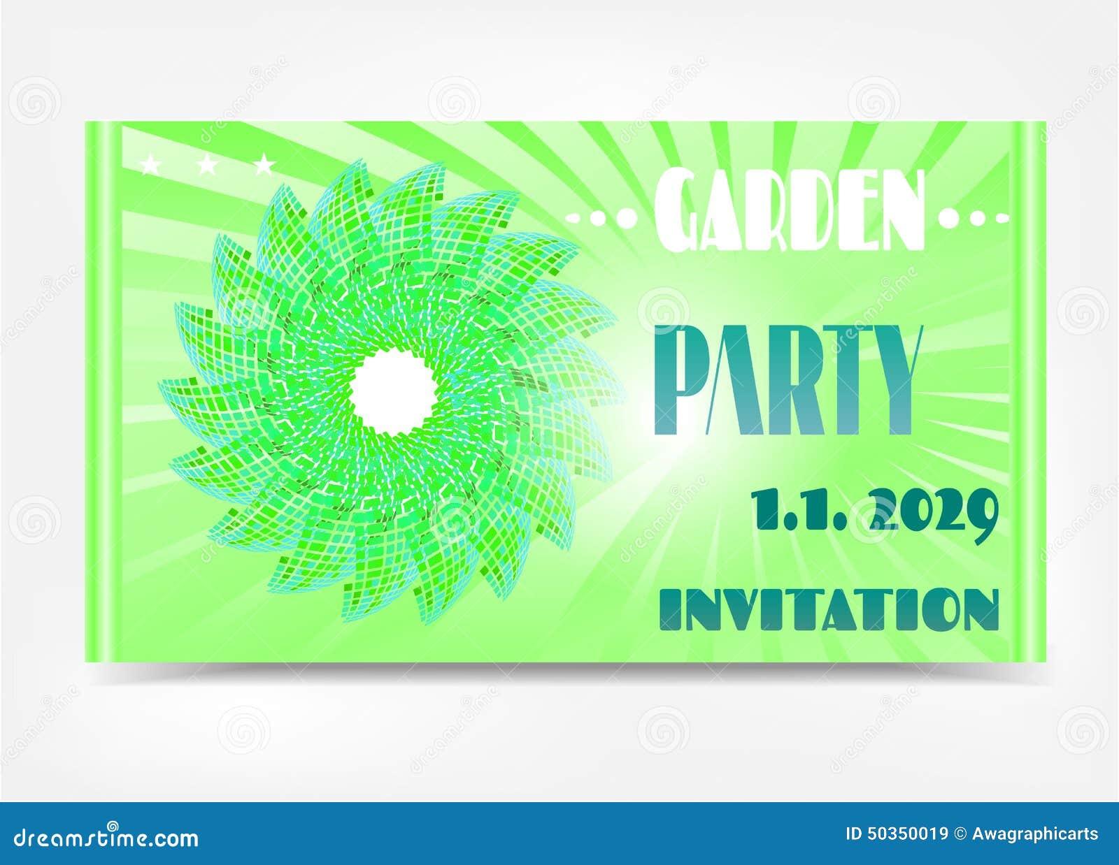 einladung - gartenfest vektor abbildung - bild: 50350019, Einladung