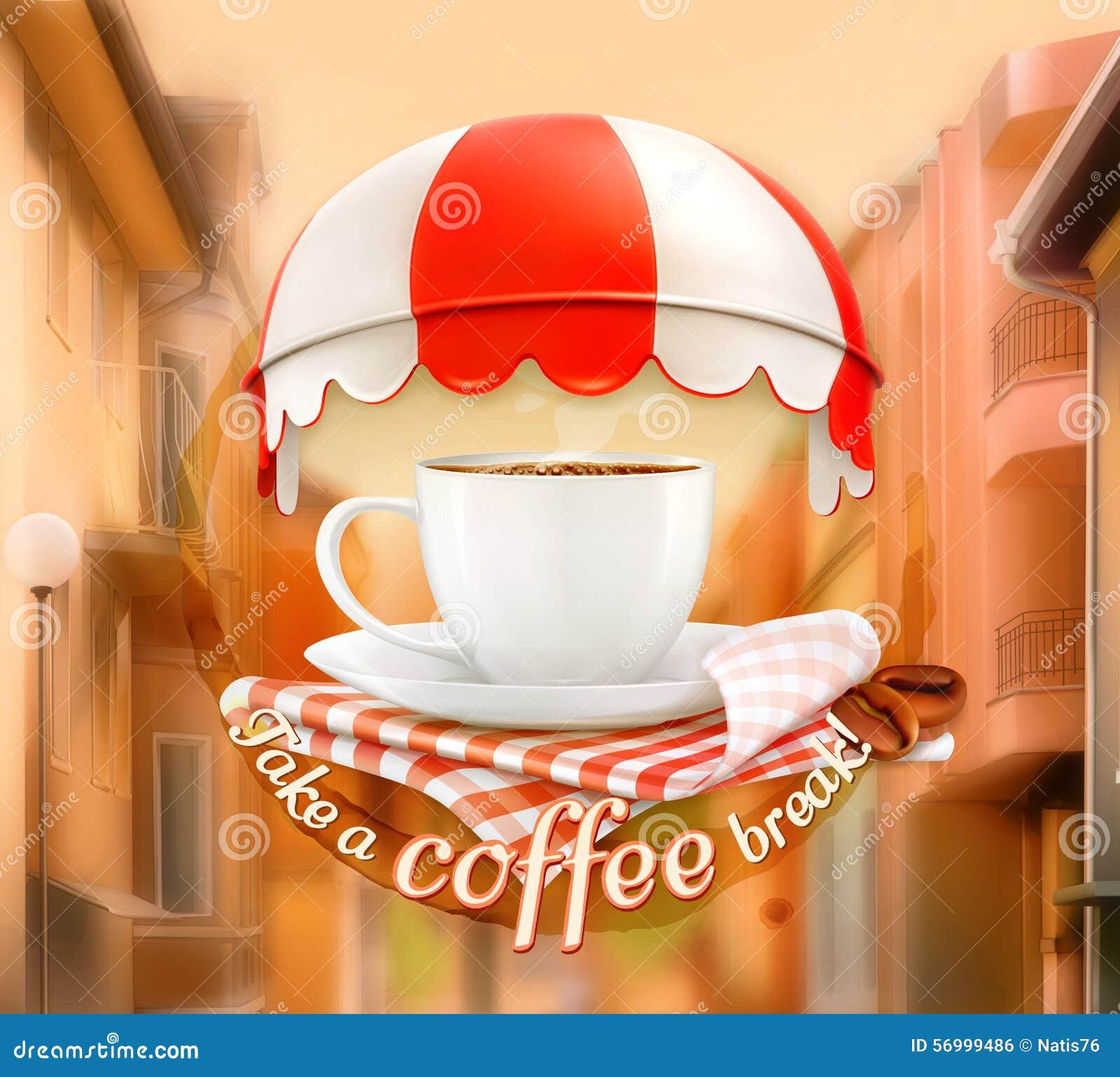 einladung zu einem tasse kaffee vektor abbildung - bild: 56999486, Einladung