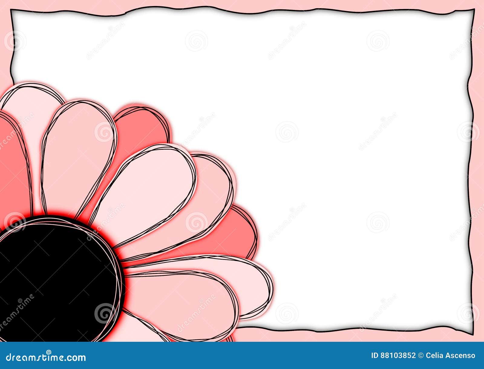 Einladungs-Karten-roter Blumen-Rahmen Stock Abbildung - Illustration ...