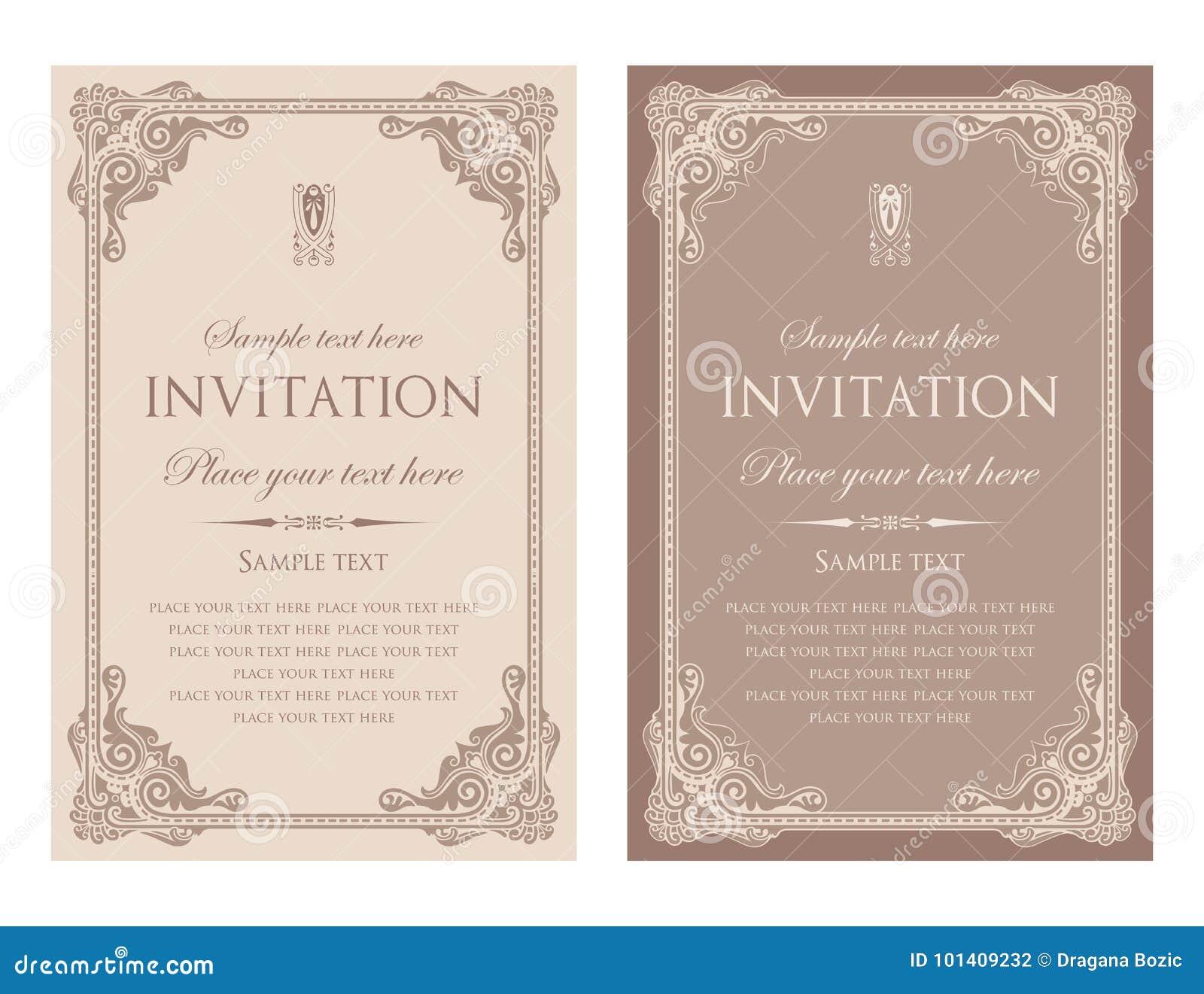 Einladungskarten-Vektordesign - Weinleseart