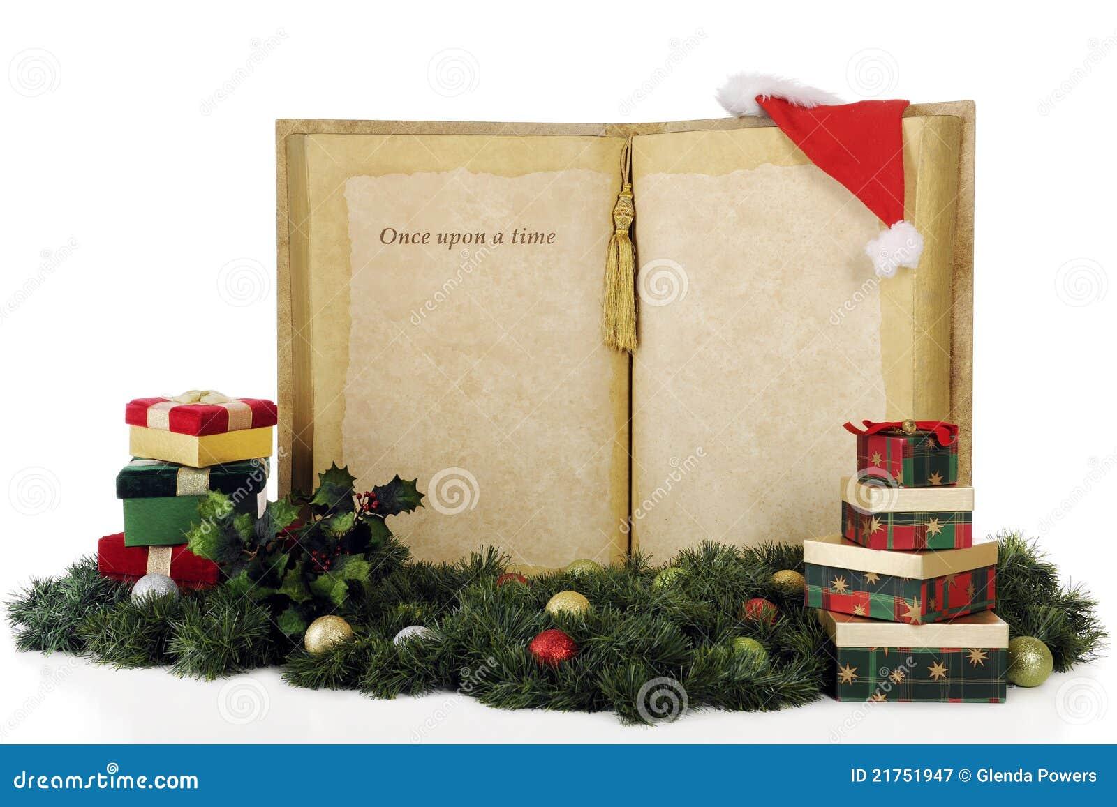 Einmal Nach Einem Weihnachtsgeschenk Stockbild - Bild von girlande ...