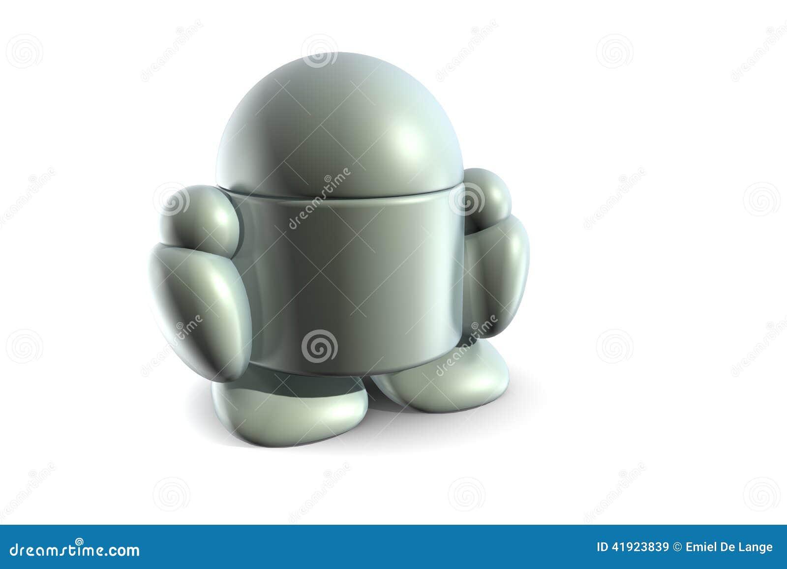 Fußboden Roboter ~ Einsamer roboter stockbild bild von kugeln fußboden