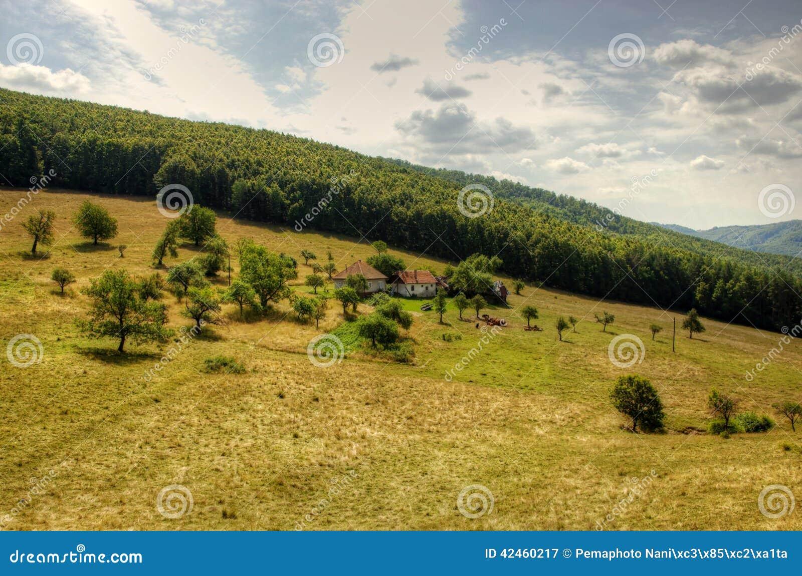 Einsames Bauernhofhaus