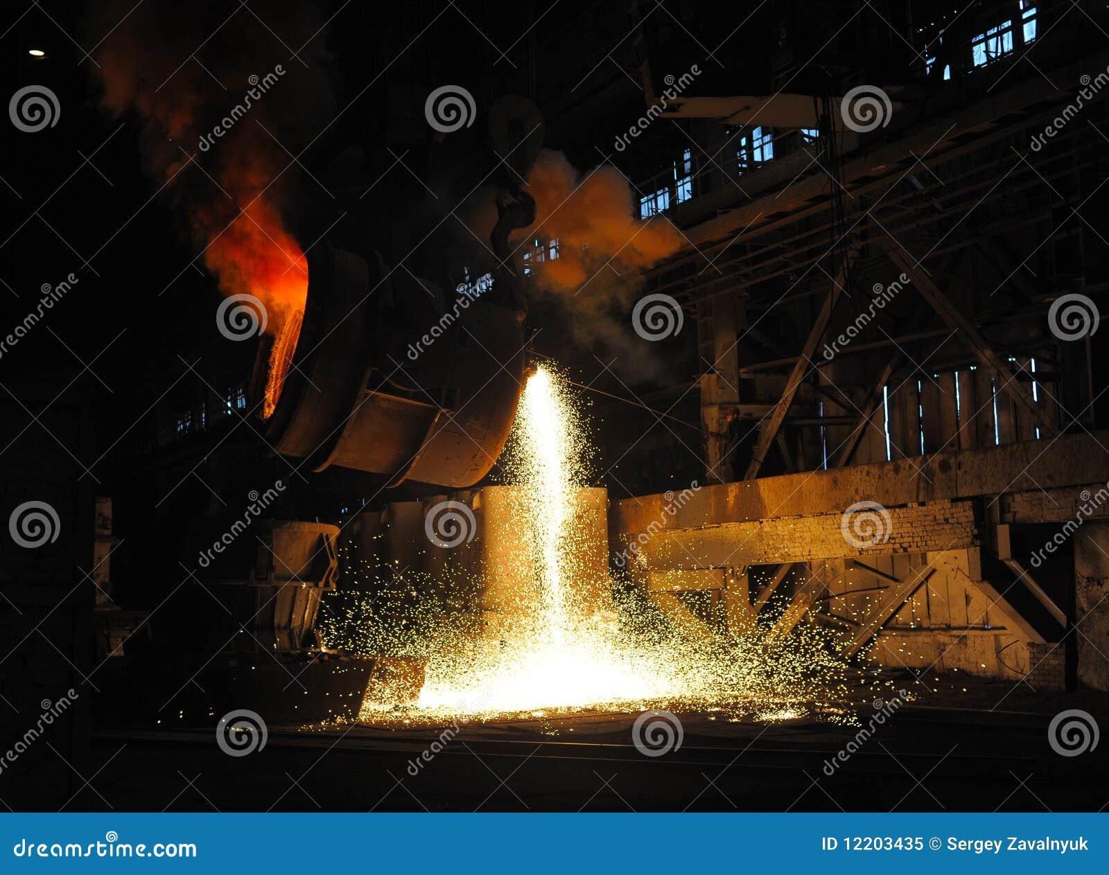 Einschmelzen des Metalls