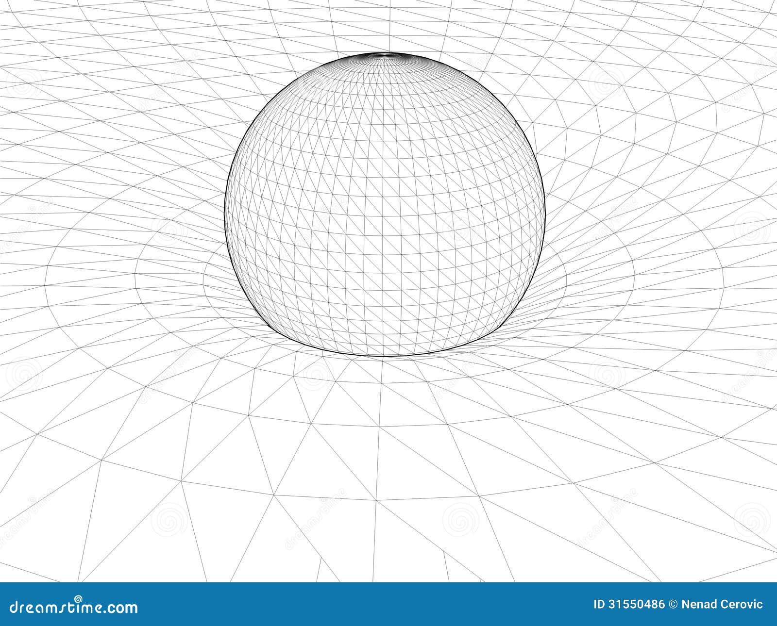Einsteins Draht-Netz-allgemeiner Relativitätstheorie-Struktur-Vektor ...