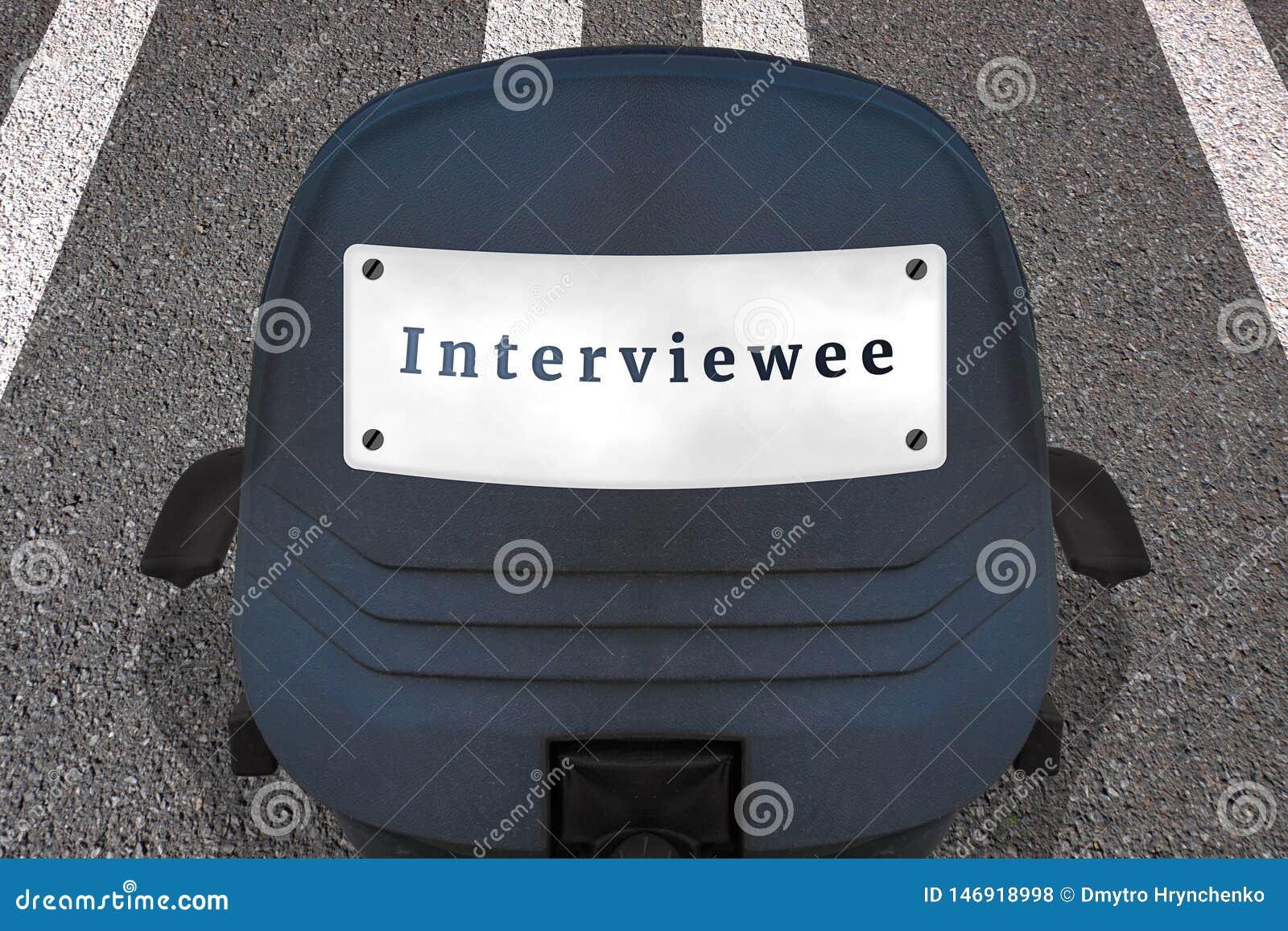 Einstellungspersonal-Konzeptplakat Text INTERVIEWTER B?rostuhl auf markierter Rollbahn oder Landstra?e in Anfangsposition Auto Id