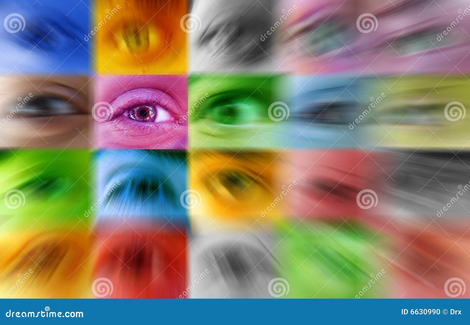 Einzeln - menschliches Auge