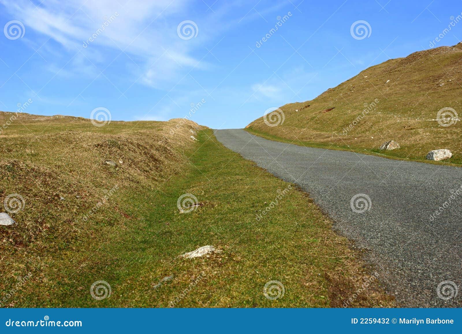 Einzelne Spur-Straße