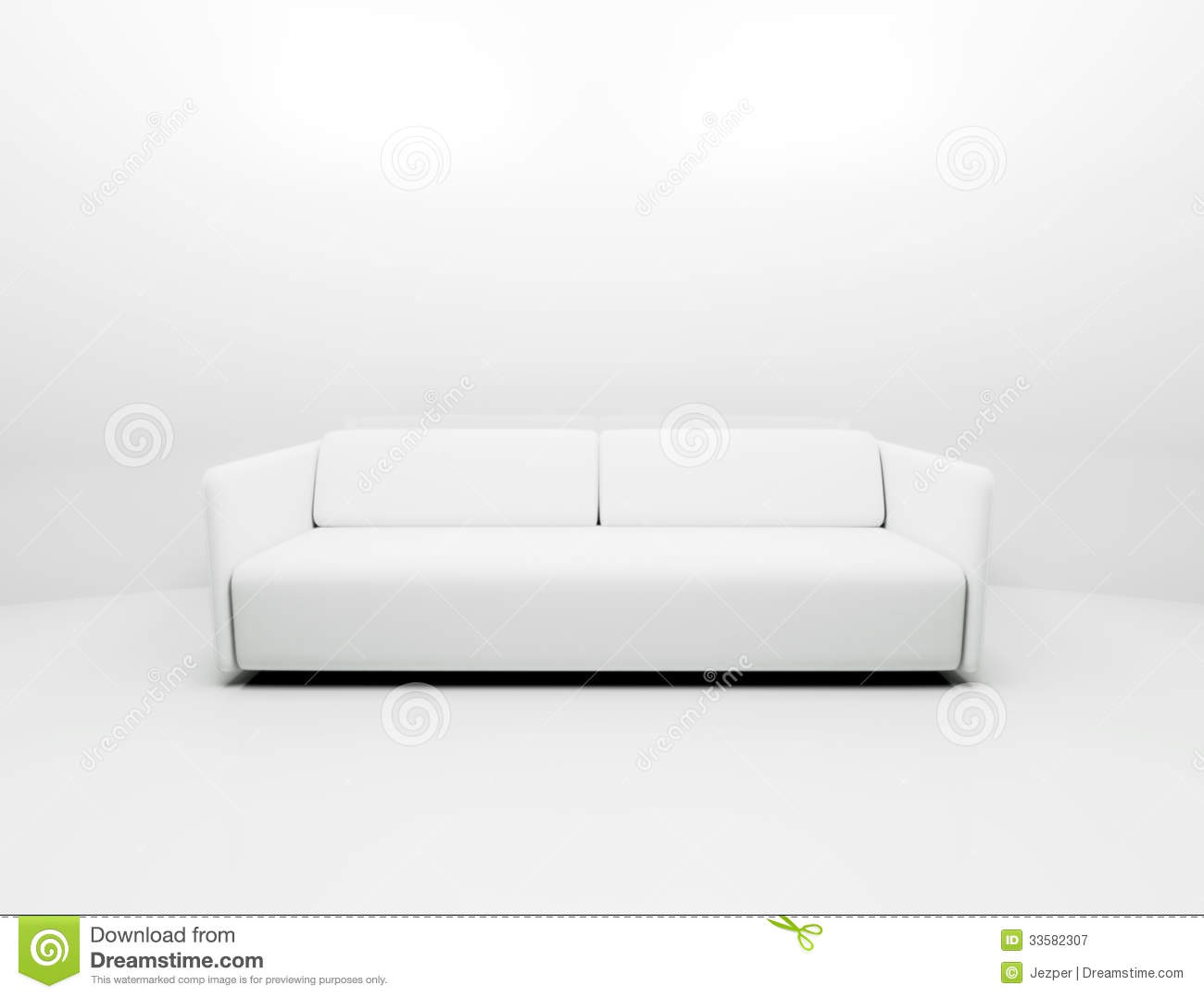 einzelne wei e couch lizenzfreie stockfotografie bild 33582307. Black Bedroom Furniture Sets. Home Design Ideas