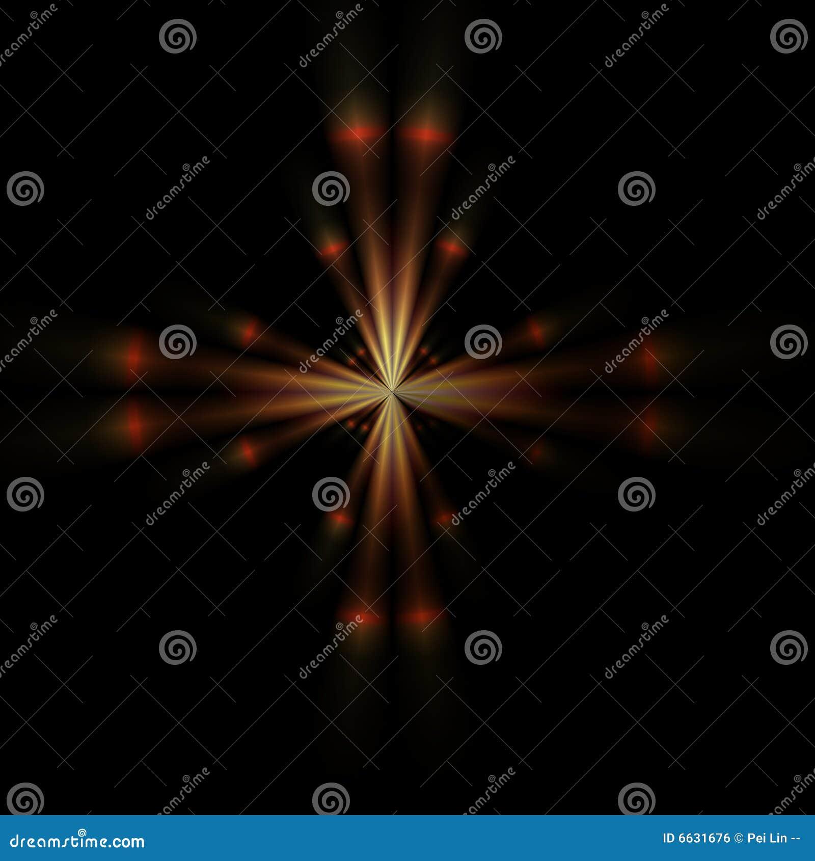 Einzelner orange Stern
