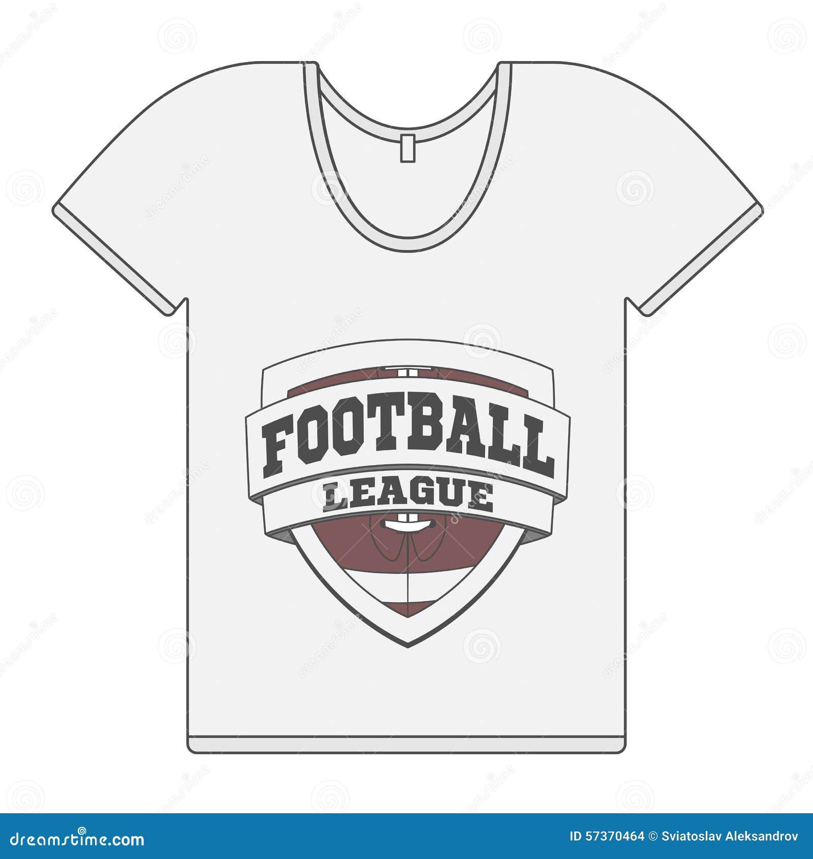 fbf4aa80817698 Einzelnes Weißes T-Shirt Mit Fußball-Aufkleber Vektor Abbildung ...