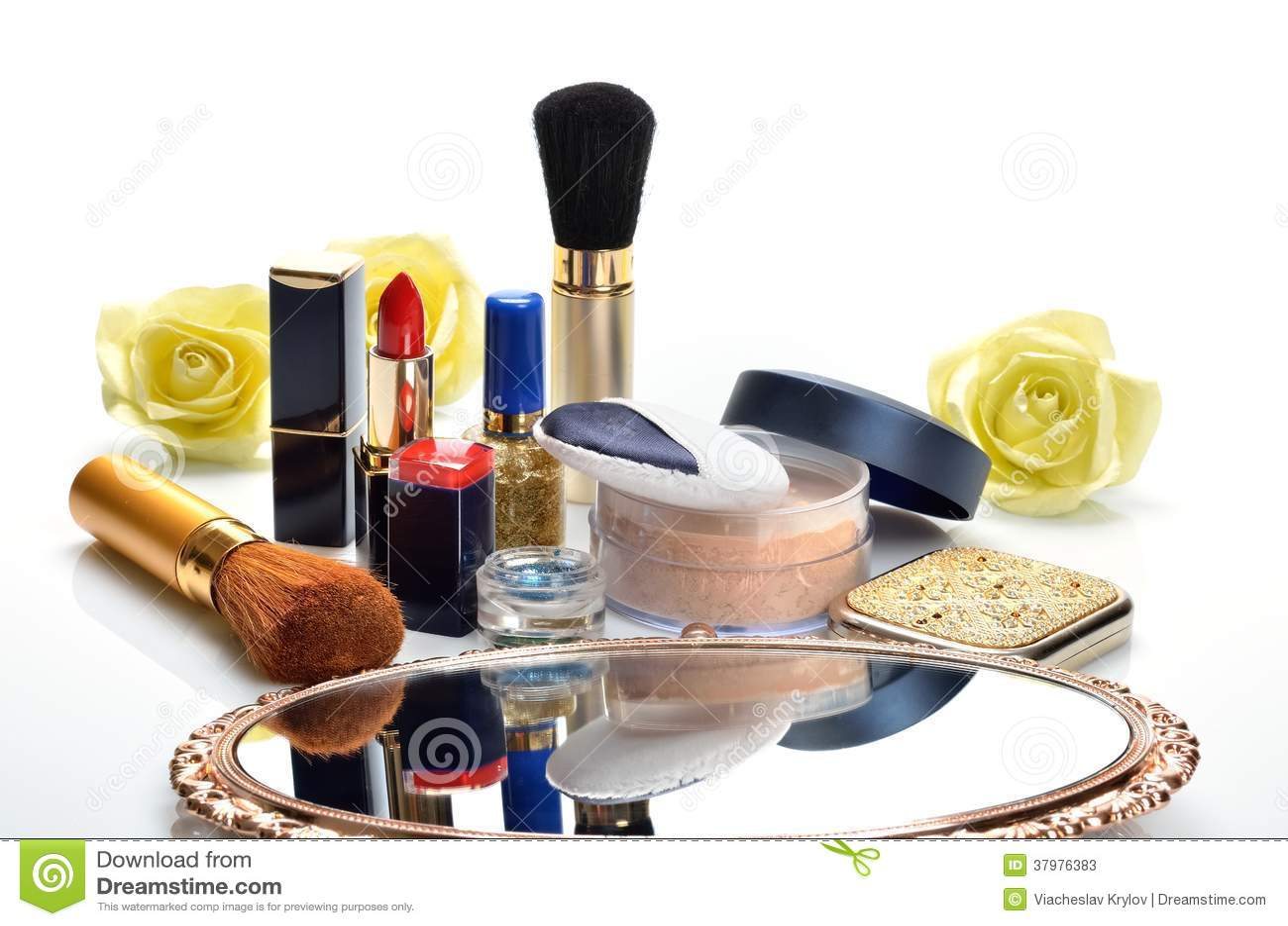 Spiegel Make Up : Einzelteile für dekorative kosmetik make up spiegel und blumen