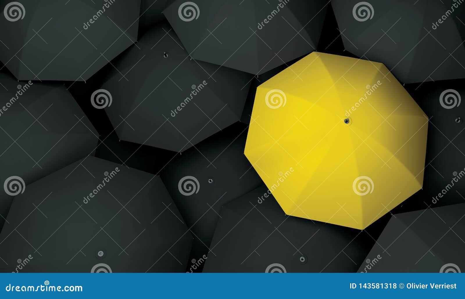 Einzigartige unterschiedliche des Regenschirmes sondern aus