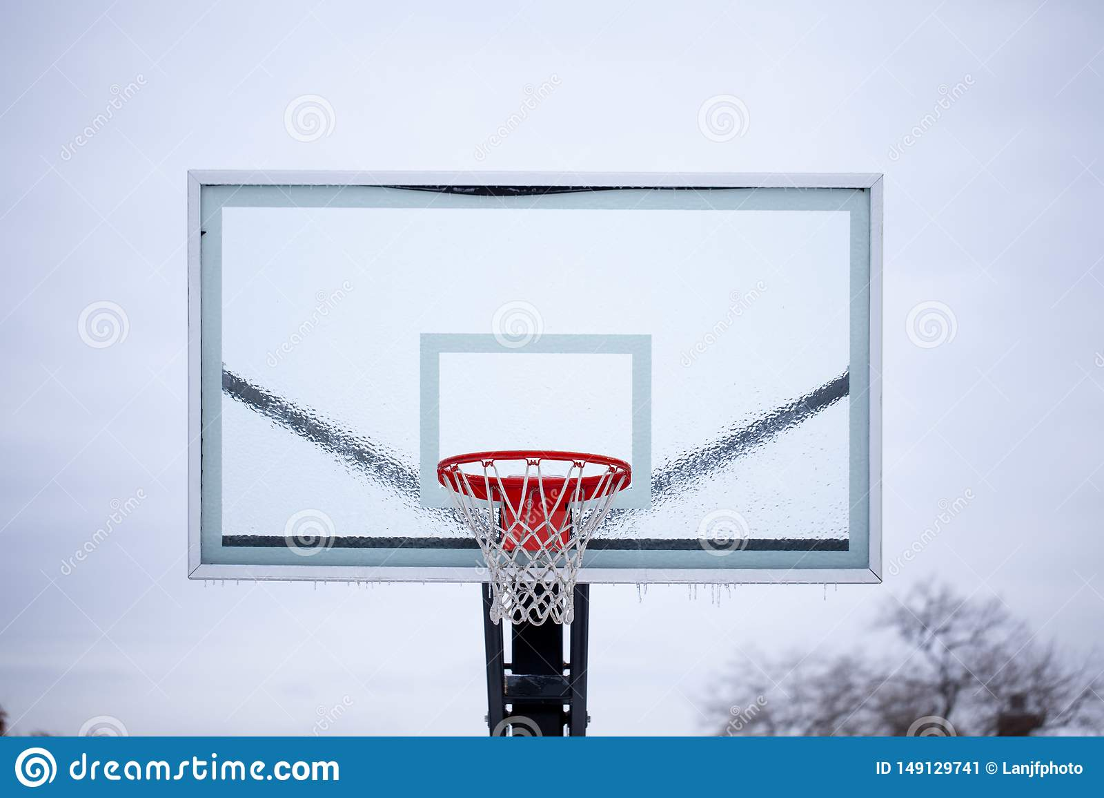 Eis Basketball-R?ckenbrett