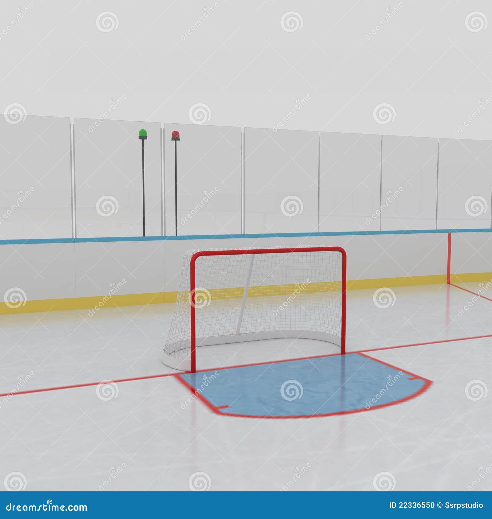 Eis-Hockey-Eisbahn