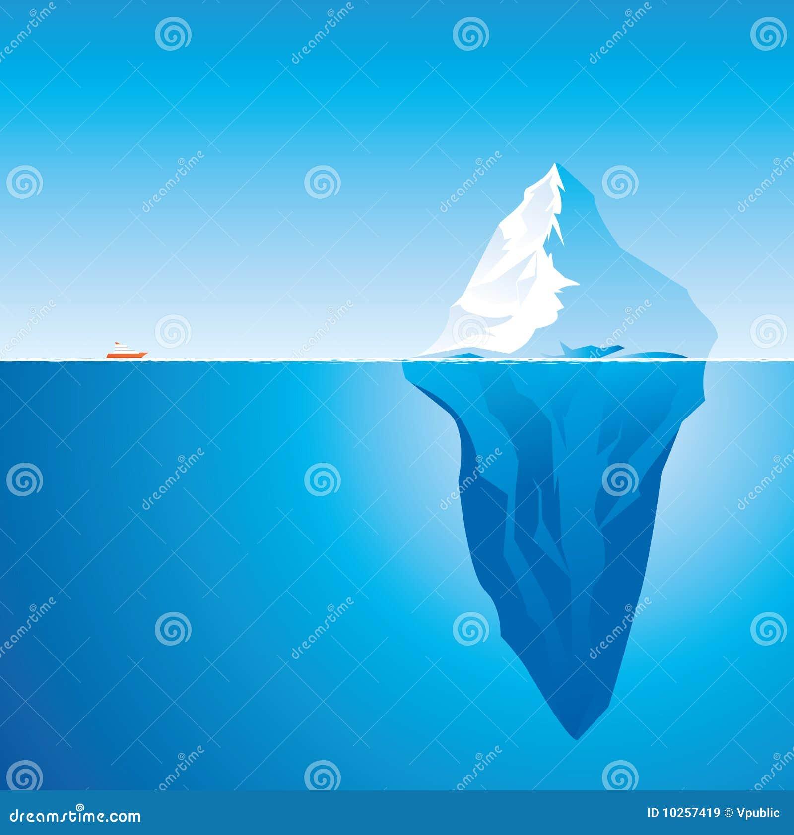 Eisberg vektor abbildung illustration von blau reise for Clipart iceberg