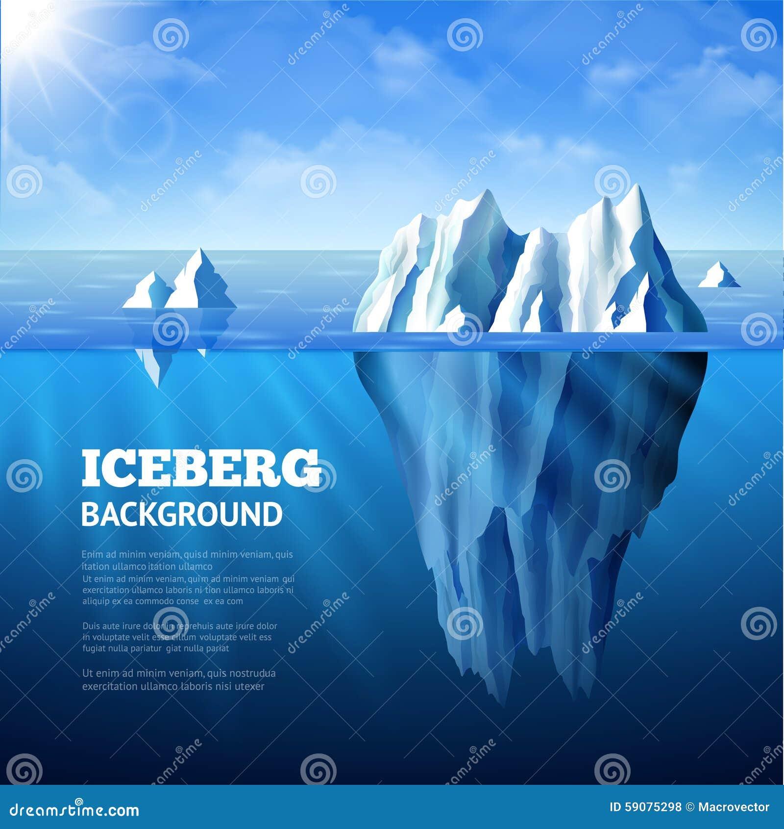 Eisberg-Hintergrund-Illustration
