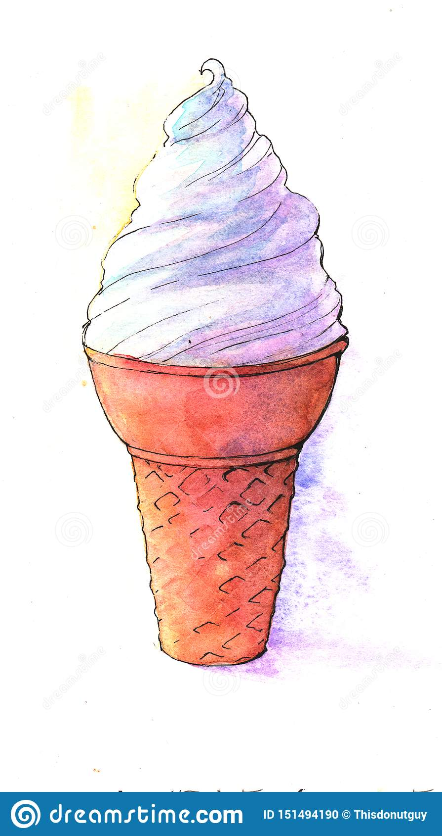 Eiscreme, Nahrung, frisch, Sommer, Ferien, Horn