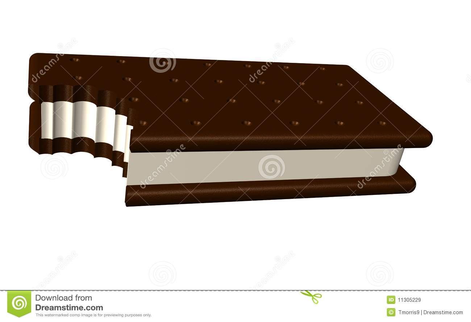 Eiscreme-Sandwichbit