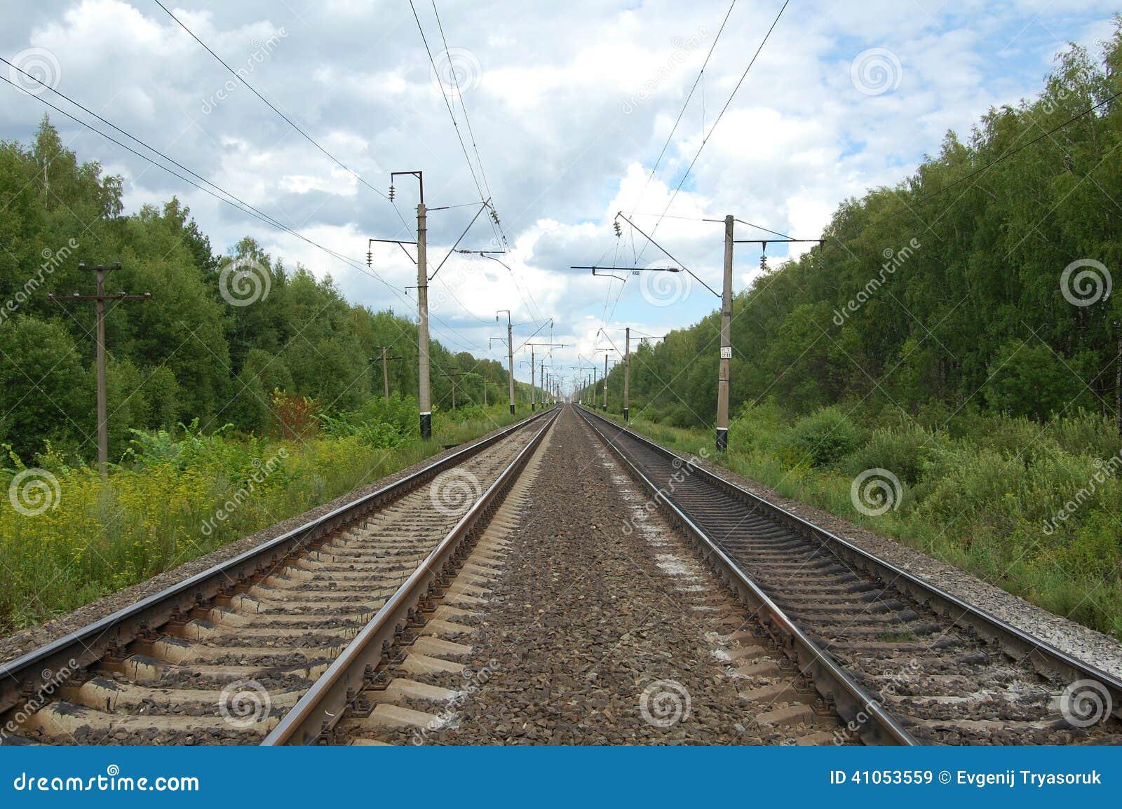 Eisenbahn Stockbild Bild Von Bett Schienen Lkw Wald 41053559