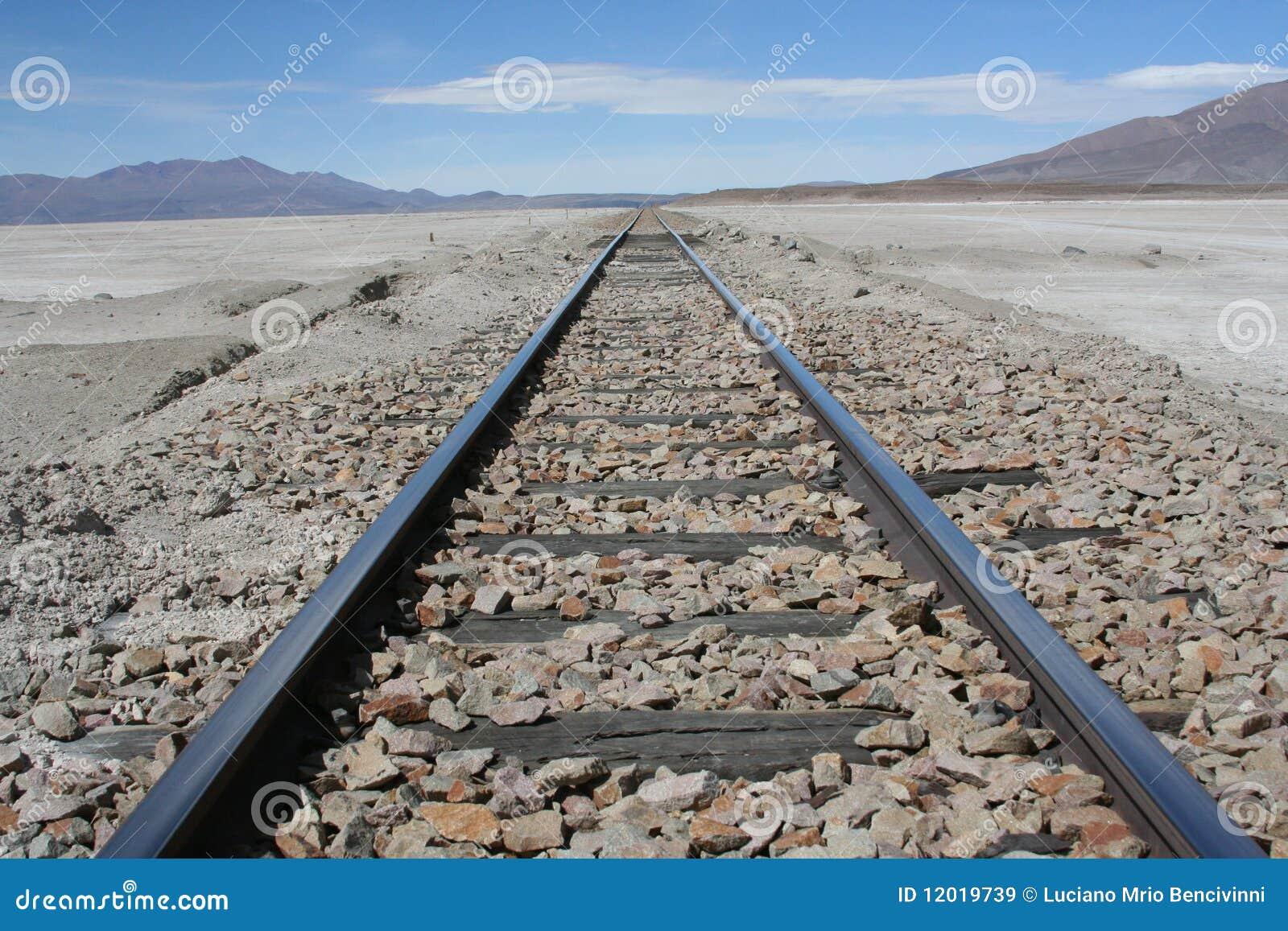 Eisenbahn in Richtung zur Unbegrenztheit
