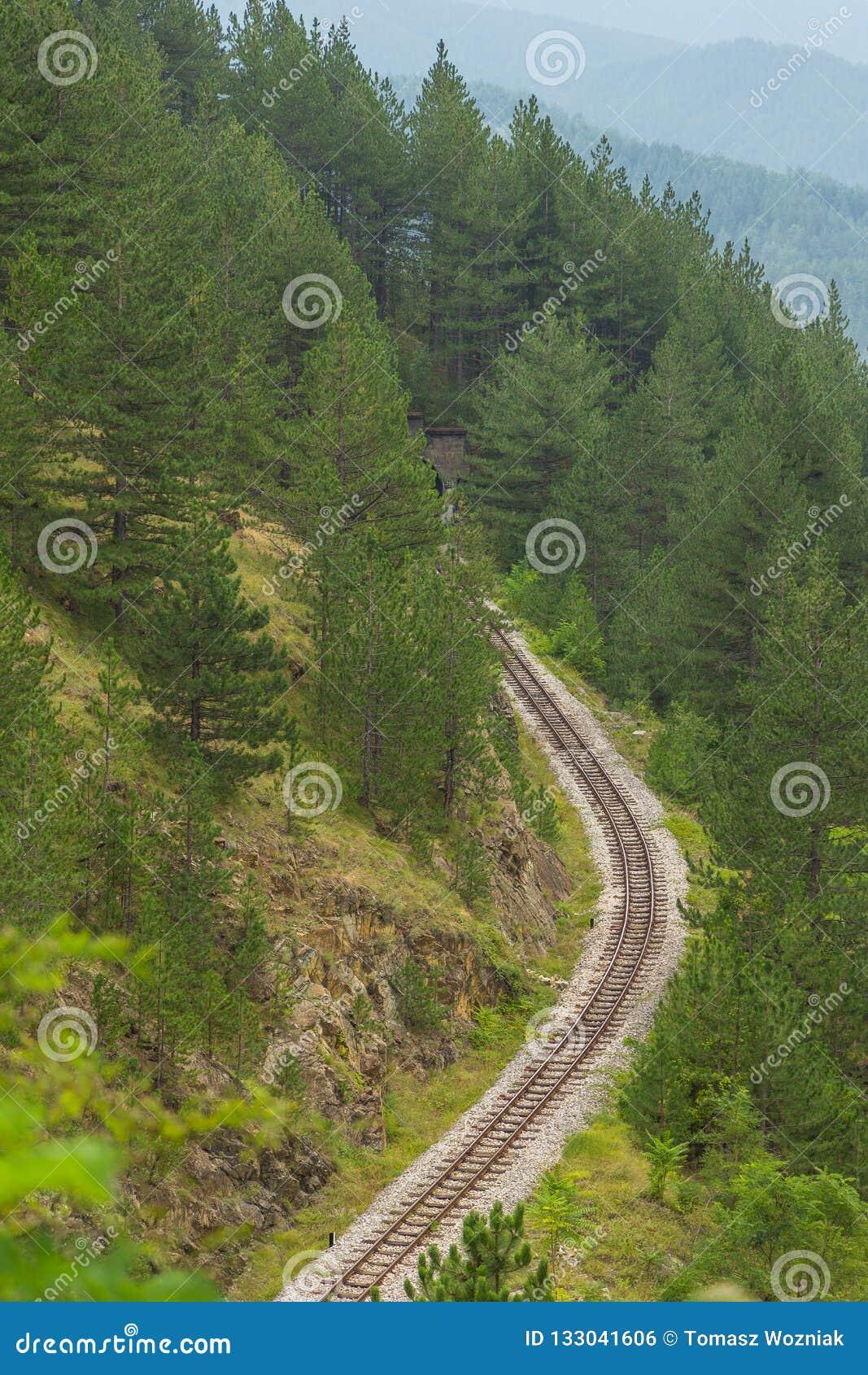 Eisenbahn von Sharganska Osmica zwischen Mokra Gora und Sargan Vitasi, Serbien
