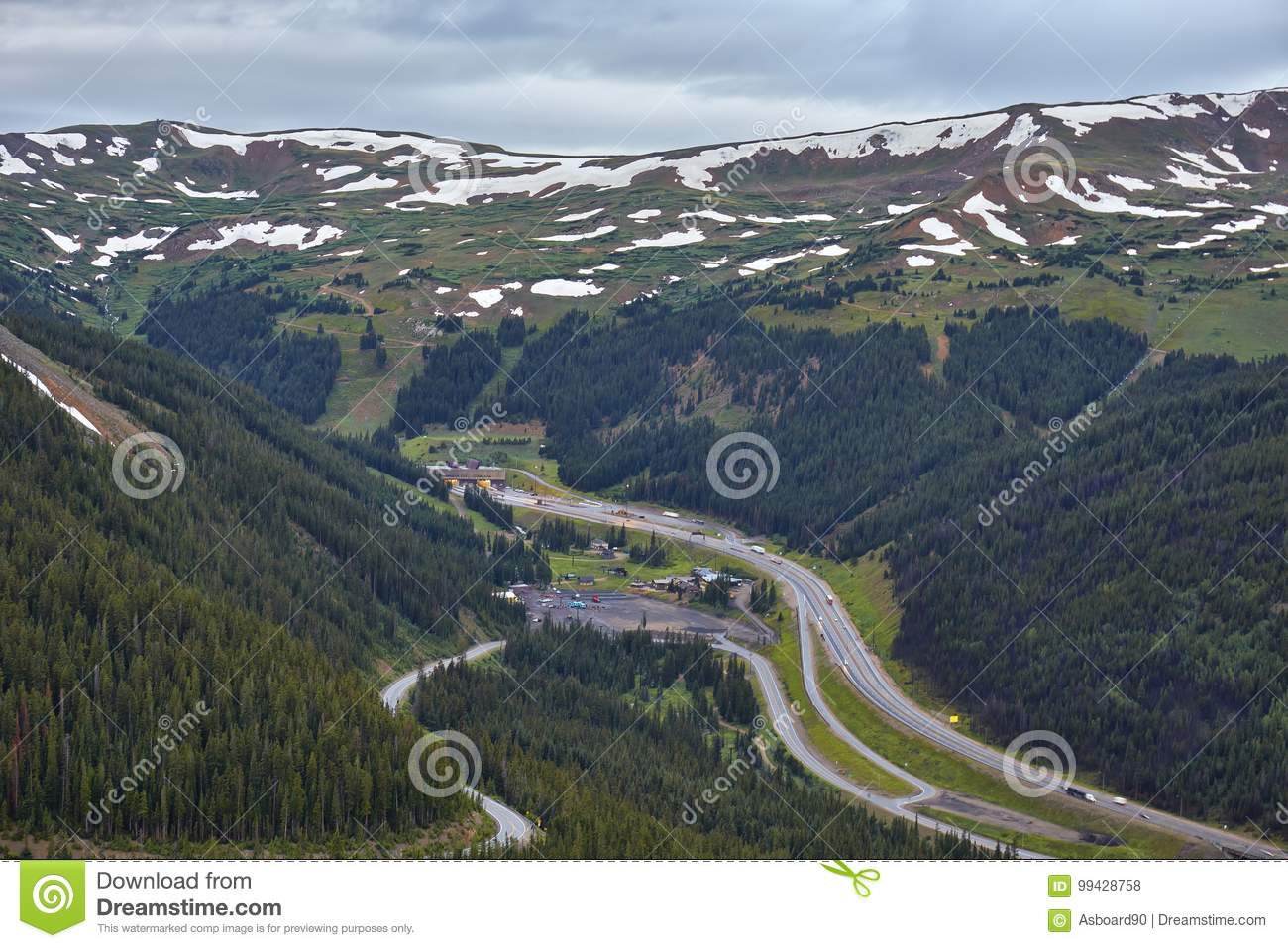 Eisenhower Tunnel and I-70 in Colorado
