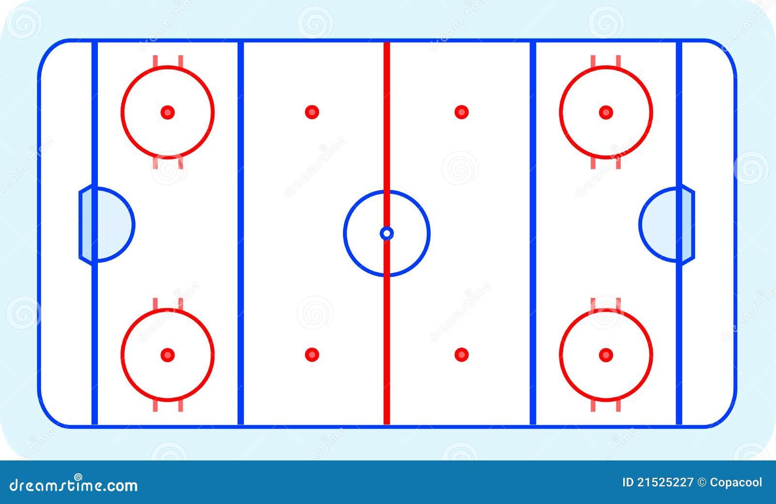 Eishockey feld gru kartenvektor vektor abbildung illustration von spiel kurve 21525227 - Dessin patinoire ...