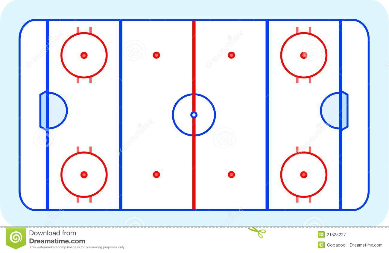 Draw Floor Plan Free Eishockey Feld Gru 223 Kartenvektor Vektor Abbildung