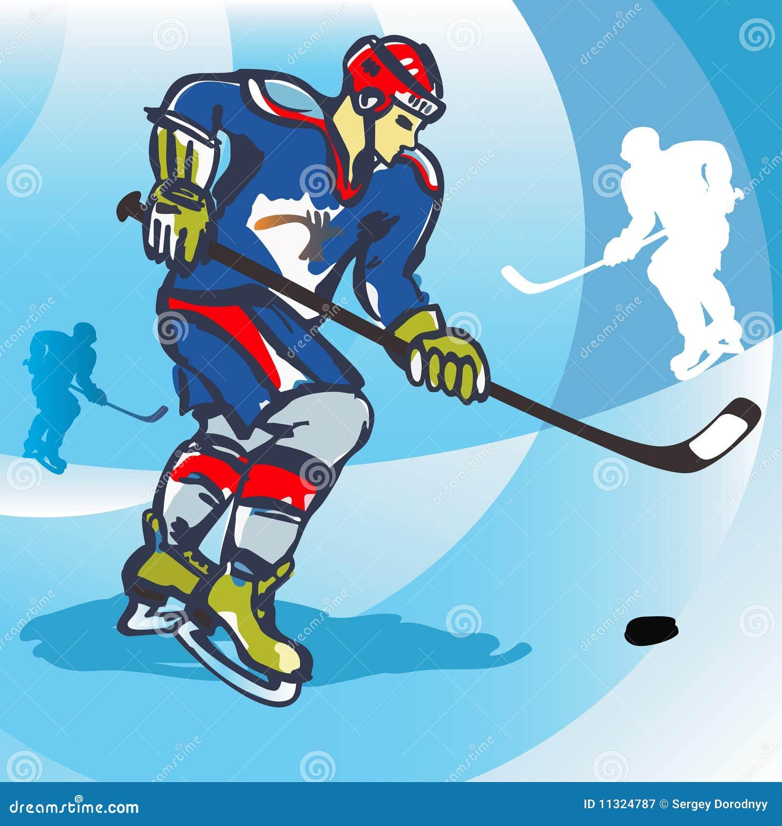 Eishockeyspieler-vektorabbildung.