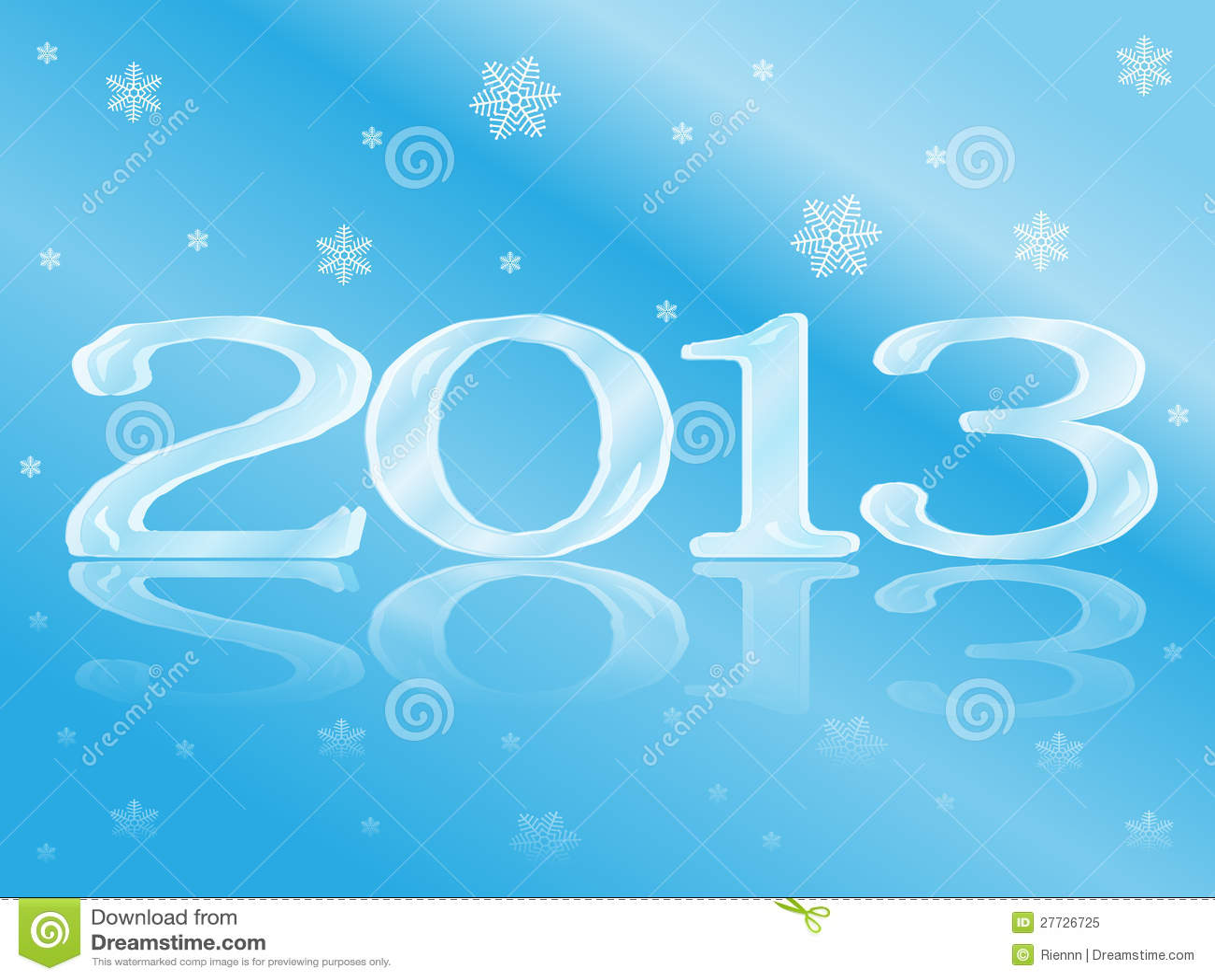 Eisige neues Jahr-Karte