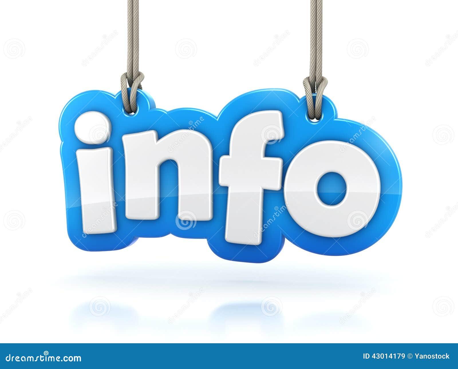 Ejecución de la palabra del texto de la información 3D en el fondo blanco