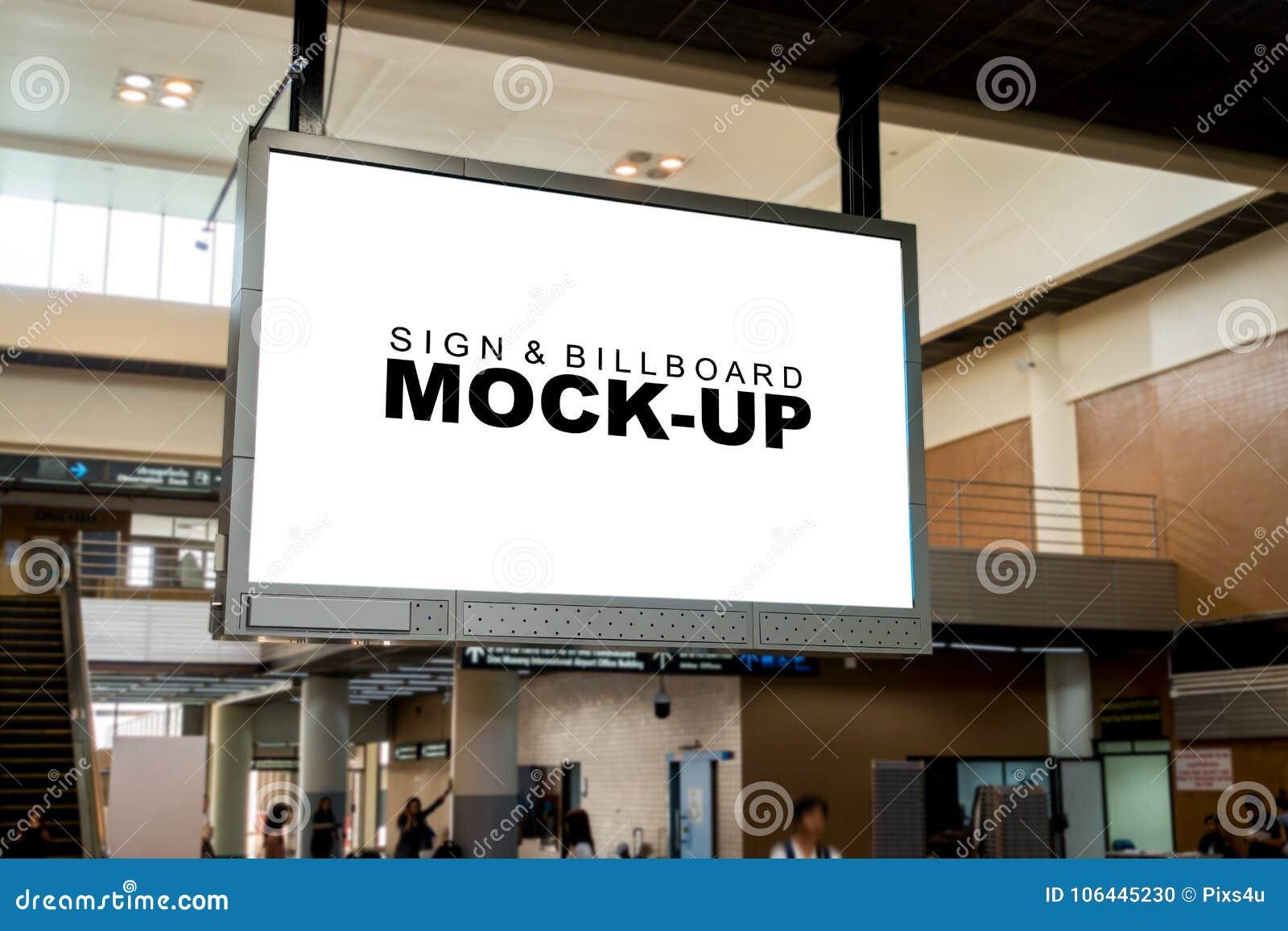Ejecución en blanco de la pantalla del espacio de publicidad del cierre del techo para arriba