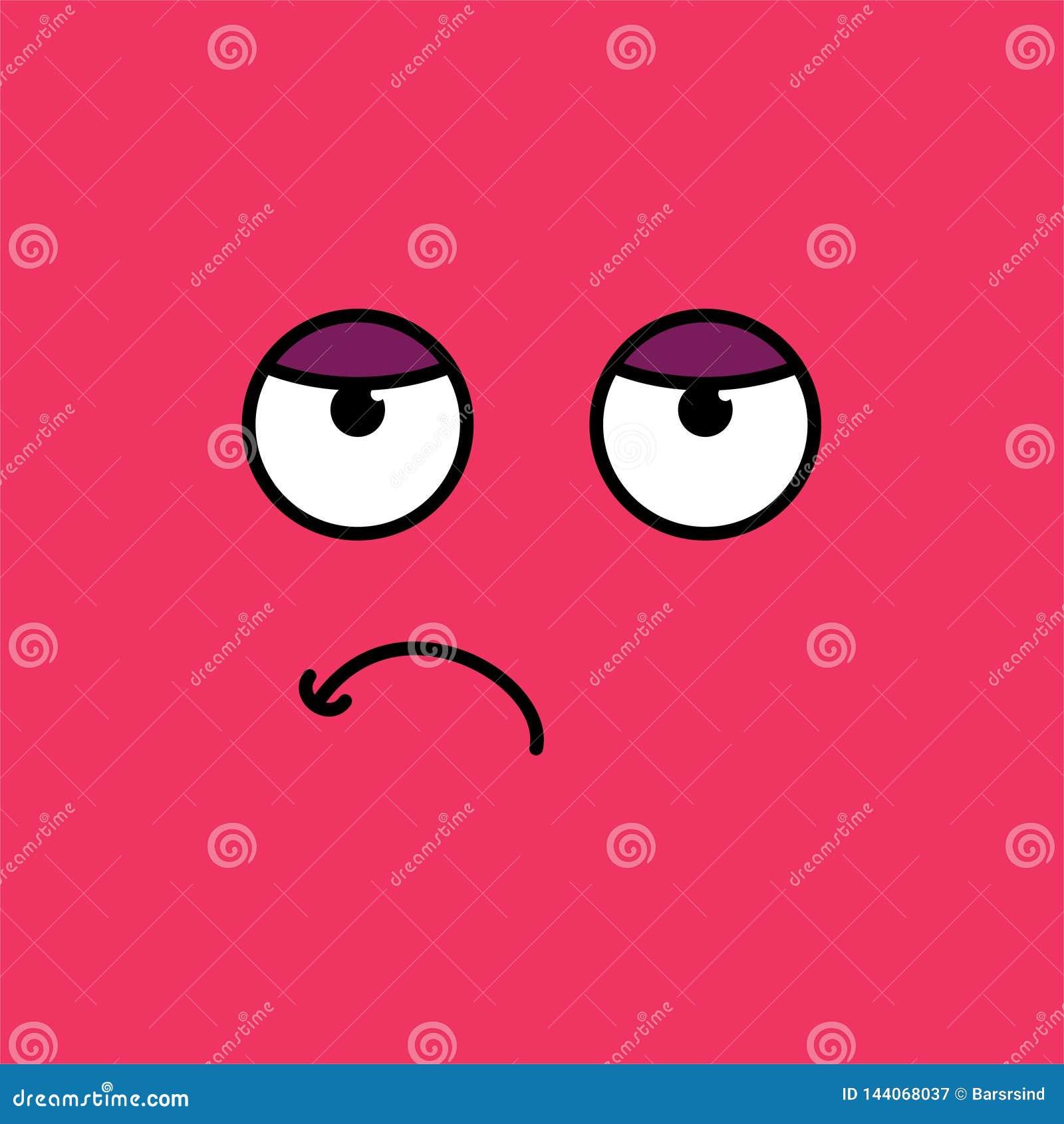 Ejemplo agujereado, cansado del vector del emoji