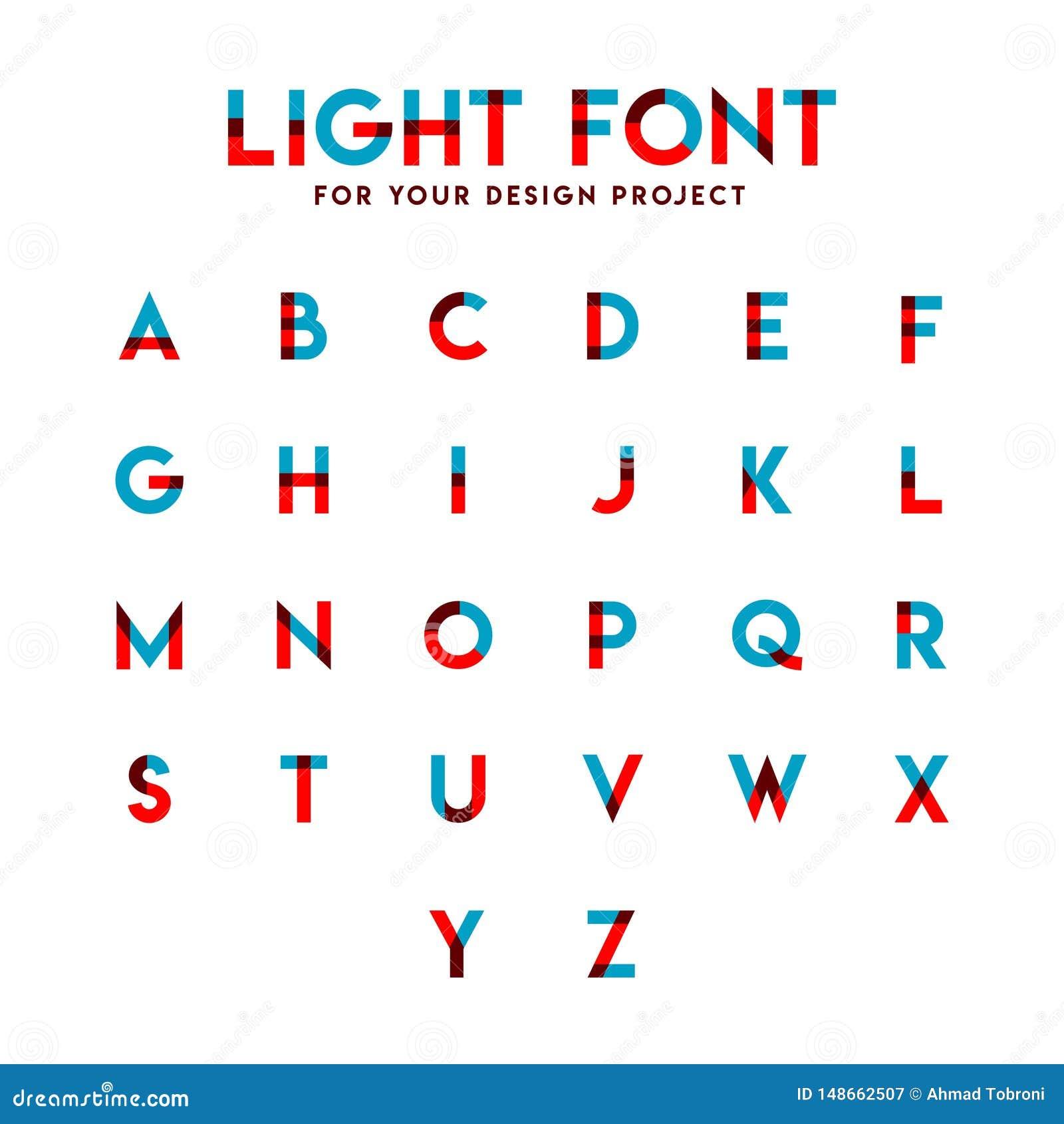 Ejemplo alfabético del diseño de la plantilla del vector del sistema ligero de la fuente