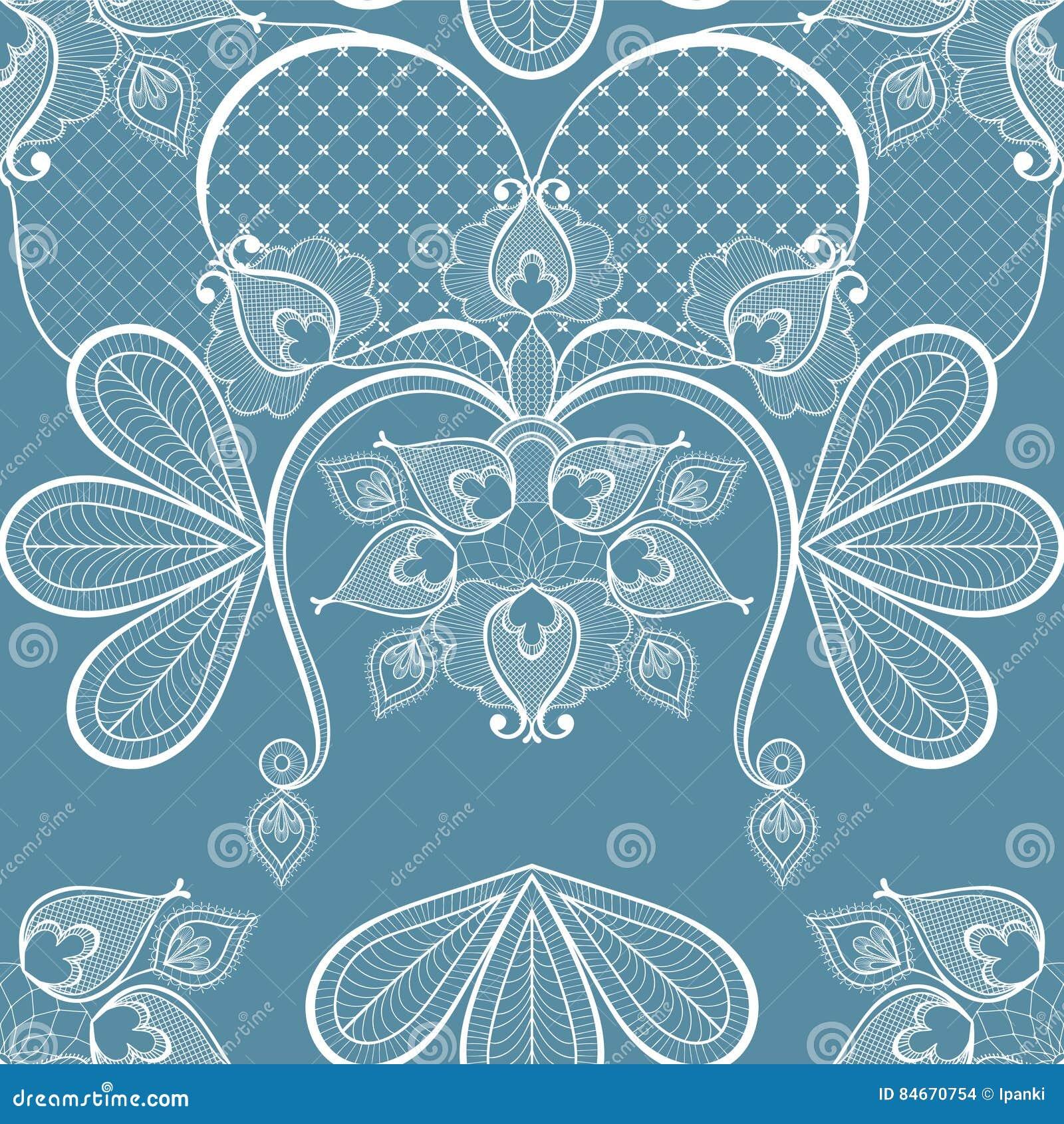 Ejemplo azul del vector del cordón para la decoración de la tarjeta del vintage, seaml