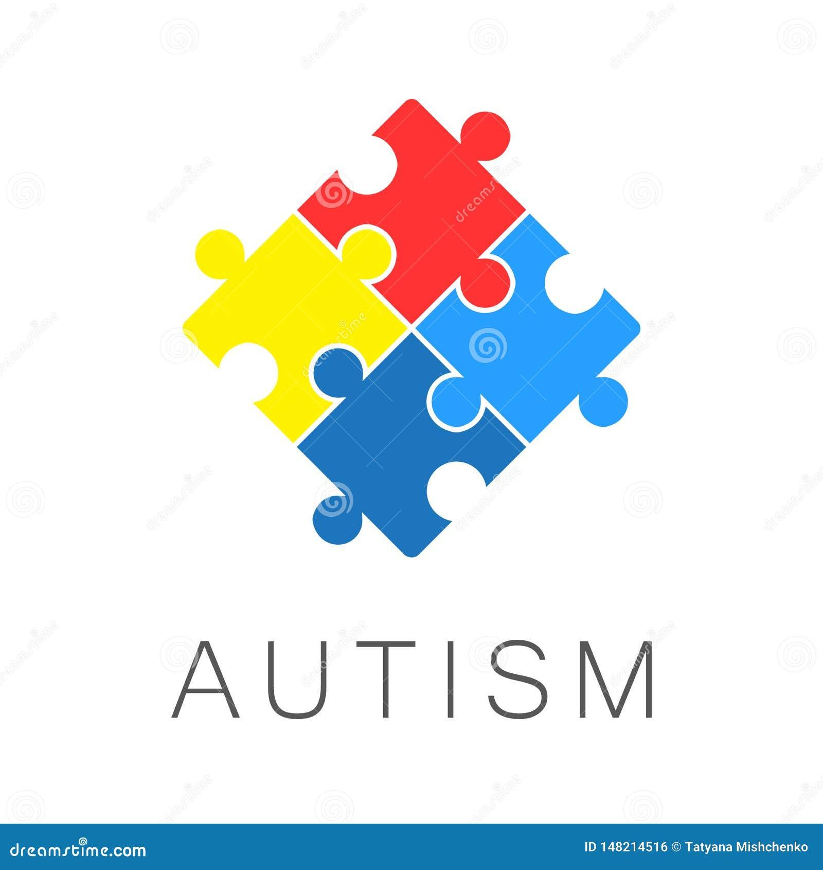 Ejemplo, bandera o cartel del día de la conciencia del autismo del mundo