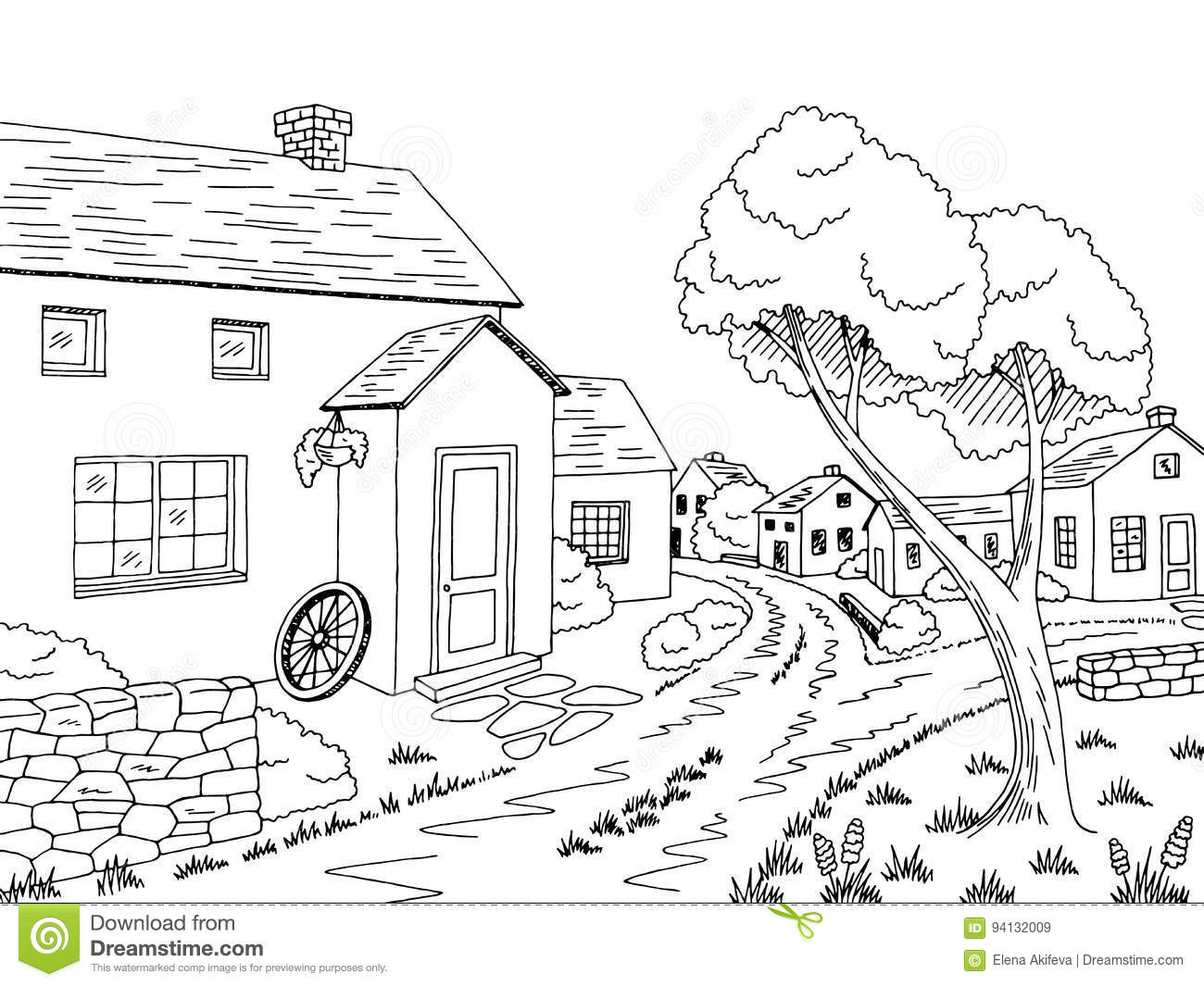 street scene coloring pages - photo#38
