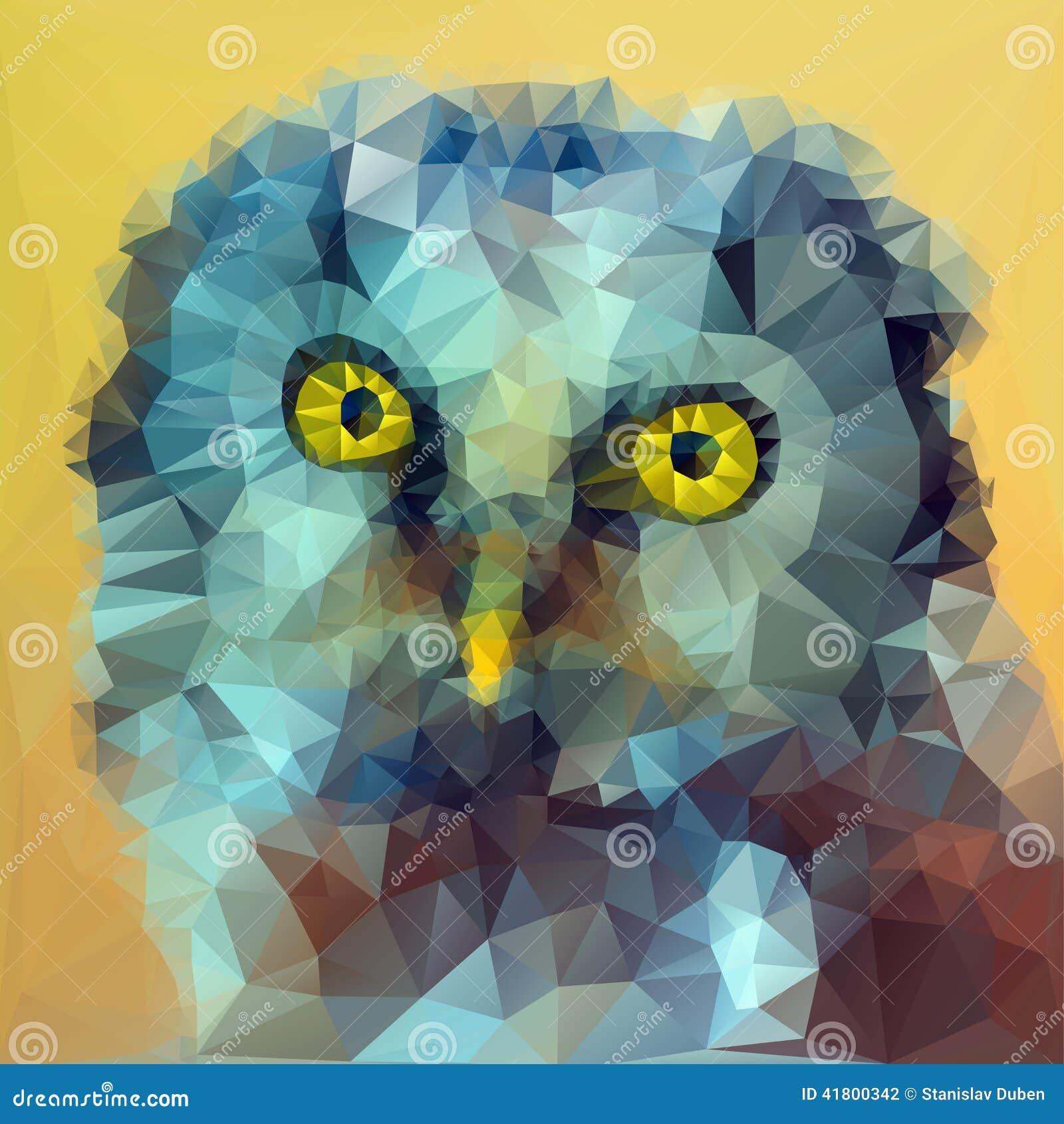Ejemplo boreal de la cabeza del búho