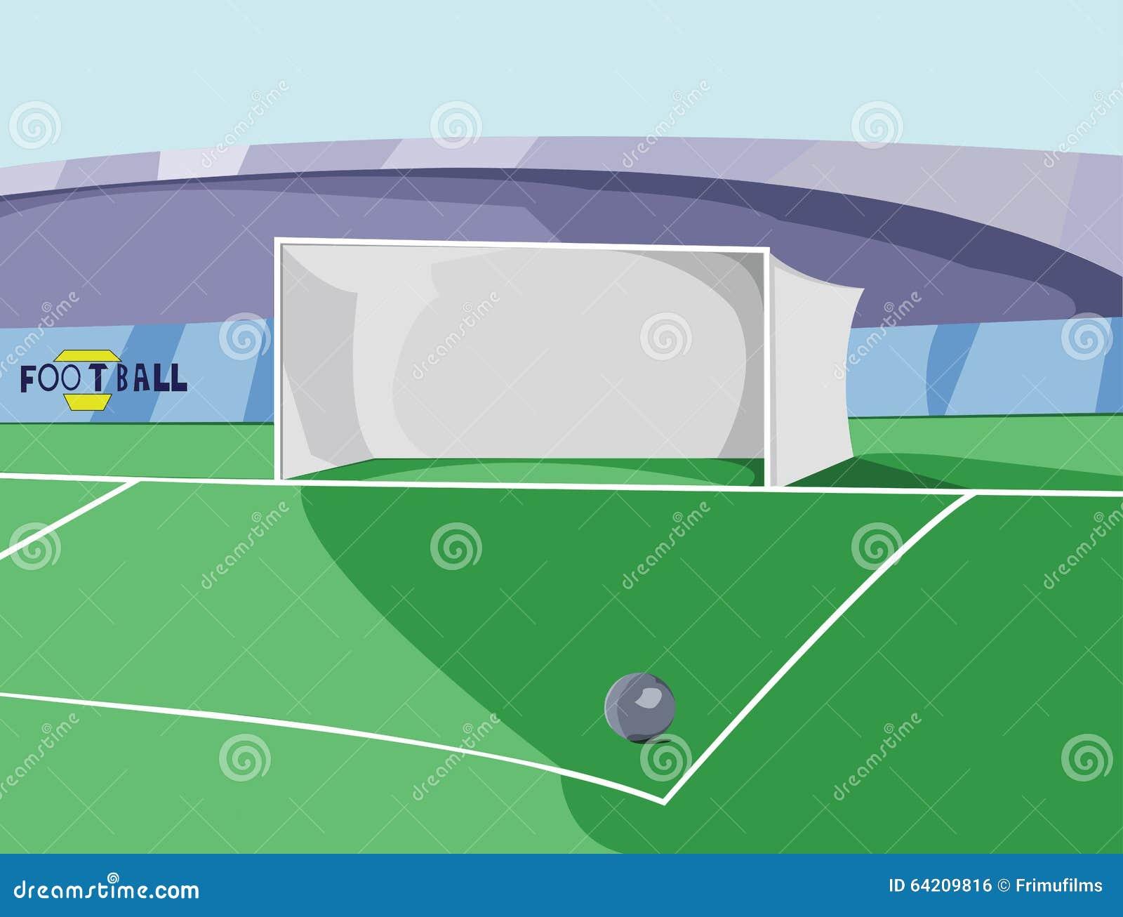 Ejemplo colorido del vector de la meta del fútbol