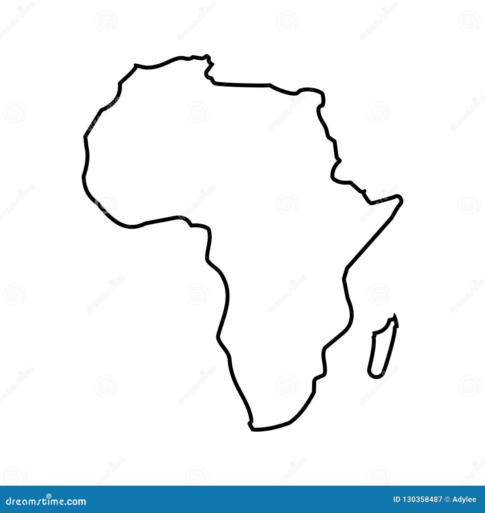 Ejemplo común 3 del vector del icono del mapa de ÁFRICA del vector