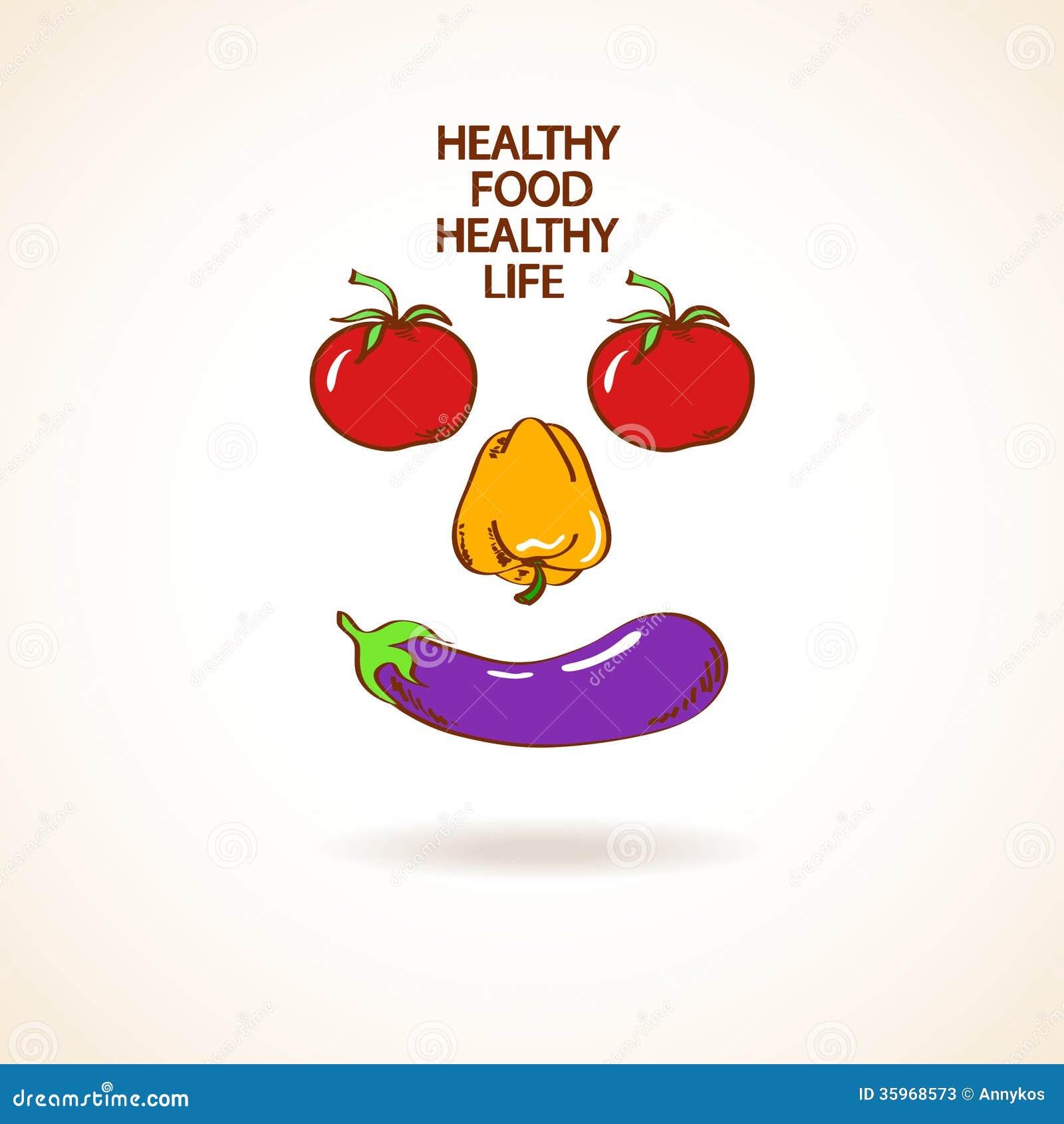 Ejemplo con la sonrisa hecha de verduras
