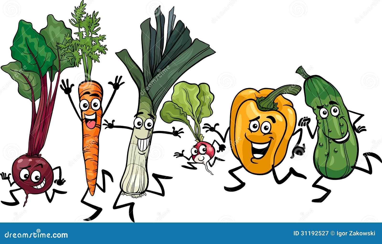 Ejemplo Corriente De La Historieta De Las Verduras