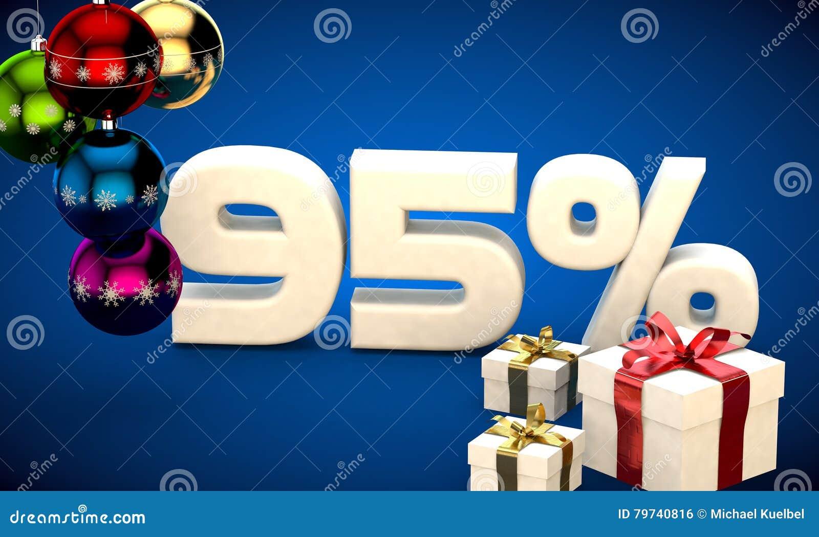Ejemplo 3d de la venta de la Navidad descuento del 95 por ciento