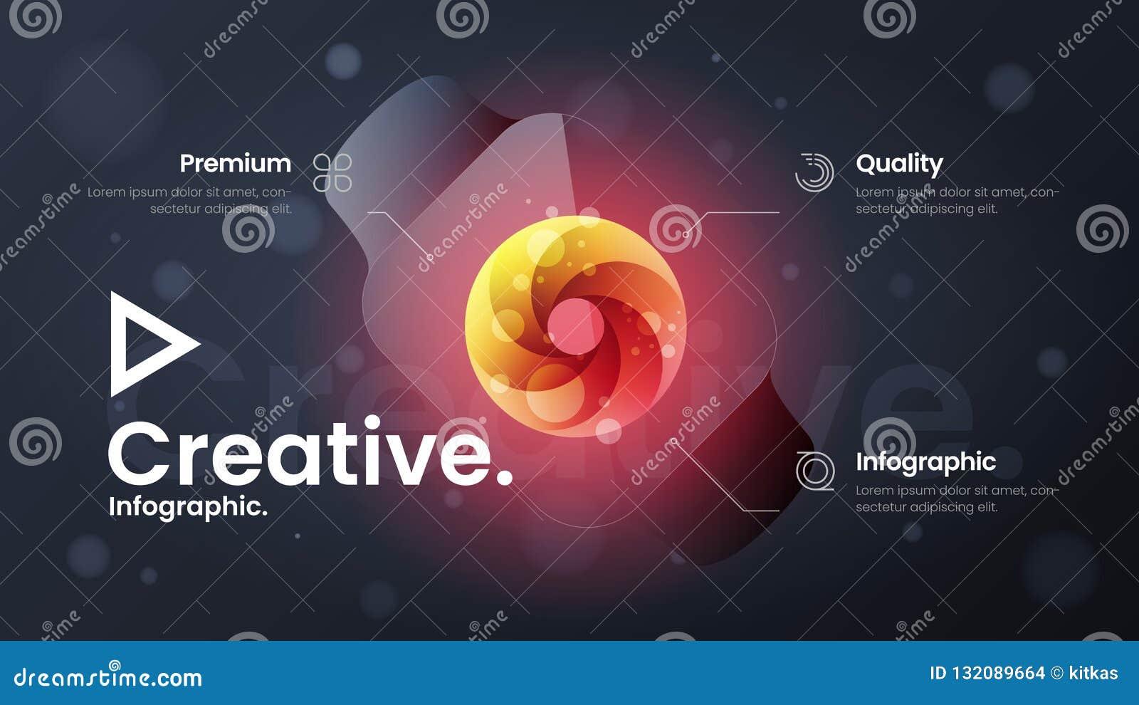 Ejemplo de aterrizaje del vector de la pieza de la página del sitio web Bandera de comercialización de la presentación del analyt