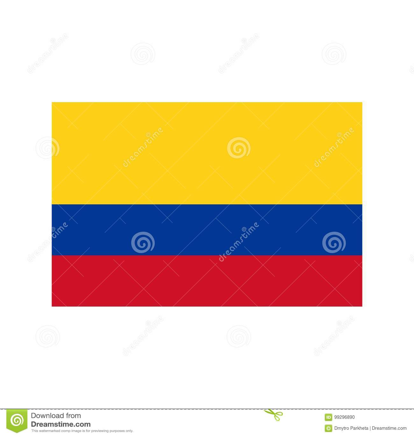 Ejemplo de la bandera de Colombia