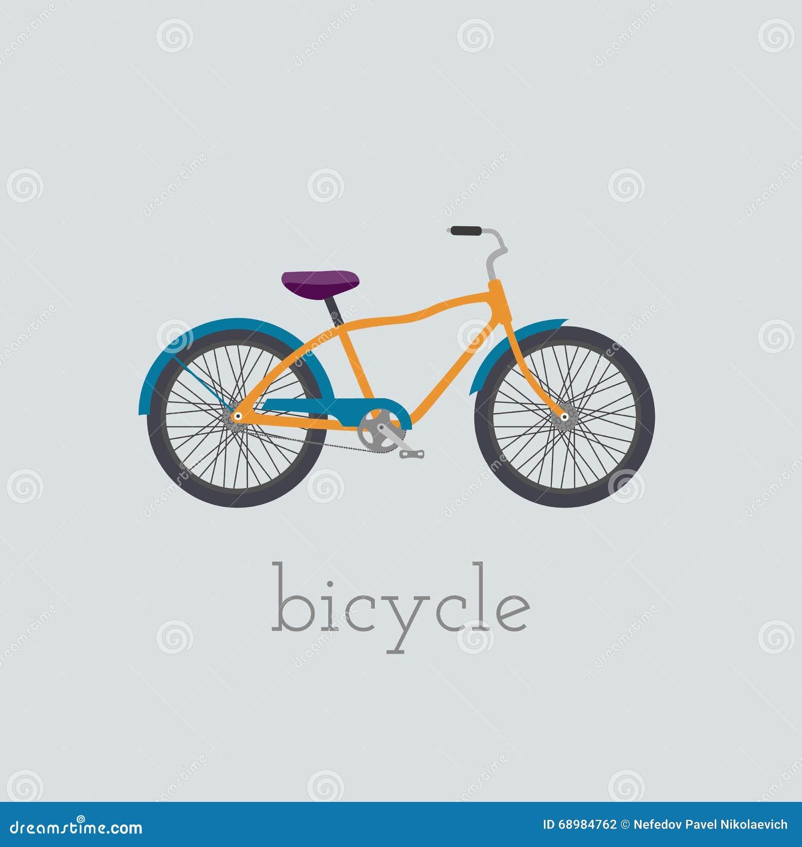 Ejemplo de la bicicleta del vector Bicicleta aislada en el fondo blanco Bici ejemplo de la bici de la bicicleta