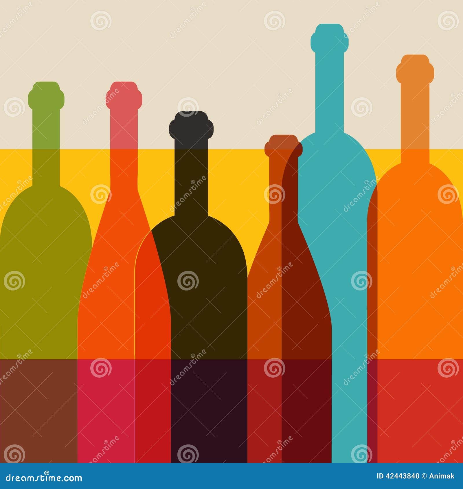 Ejemplo de la botella de vino