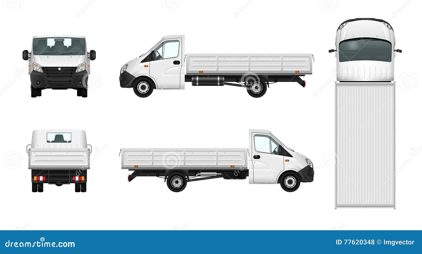 Ejemplo De La Camioneta Pickup Plantilla Del Coche Del Cargo De La ...